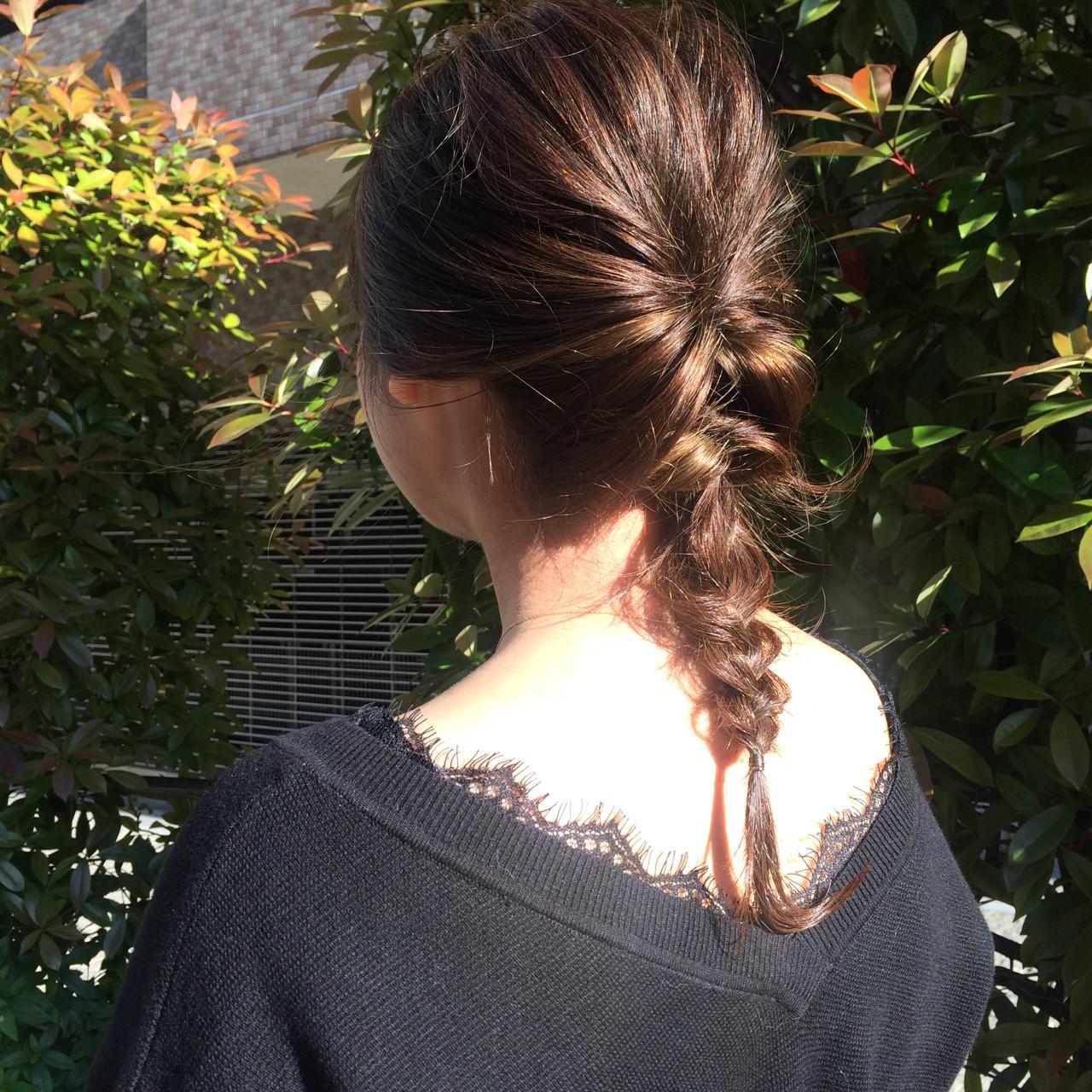 くるりんぱ 女子会 ナチュラル ヘアアレンジ ヘアスタイルや髪型の写真・画像