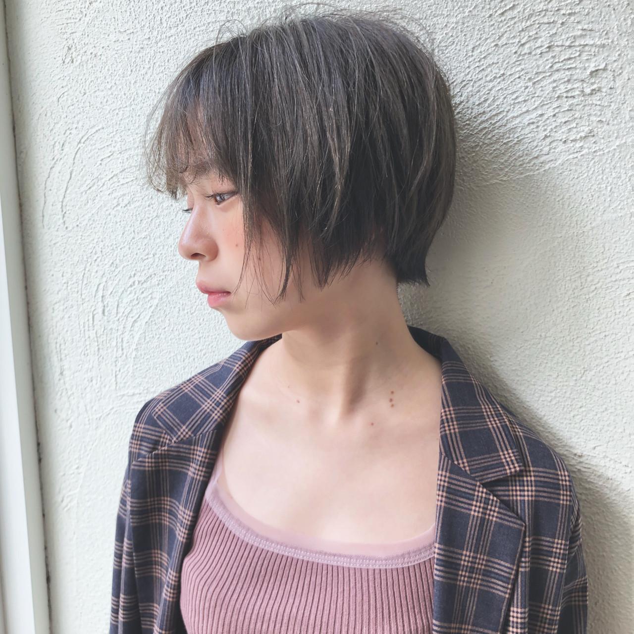 ショート モード アンニュイほつれヘア マッシュ ヘアスタイルや髪型の写真・画像