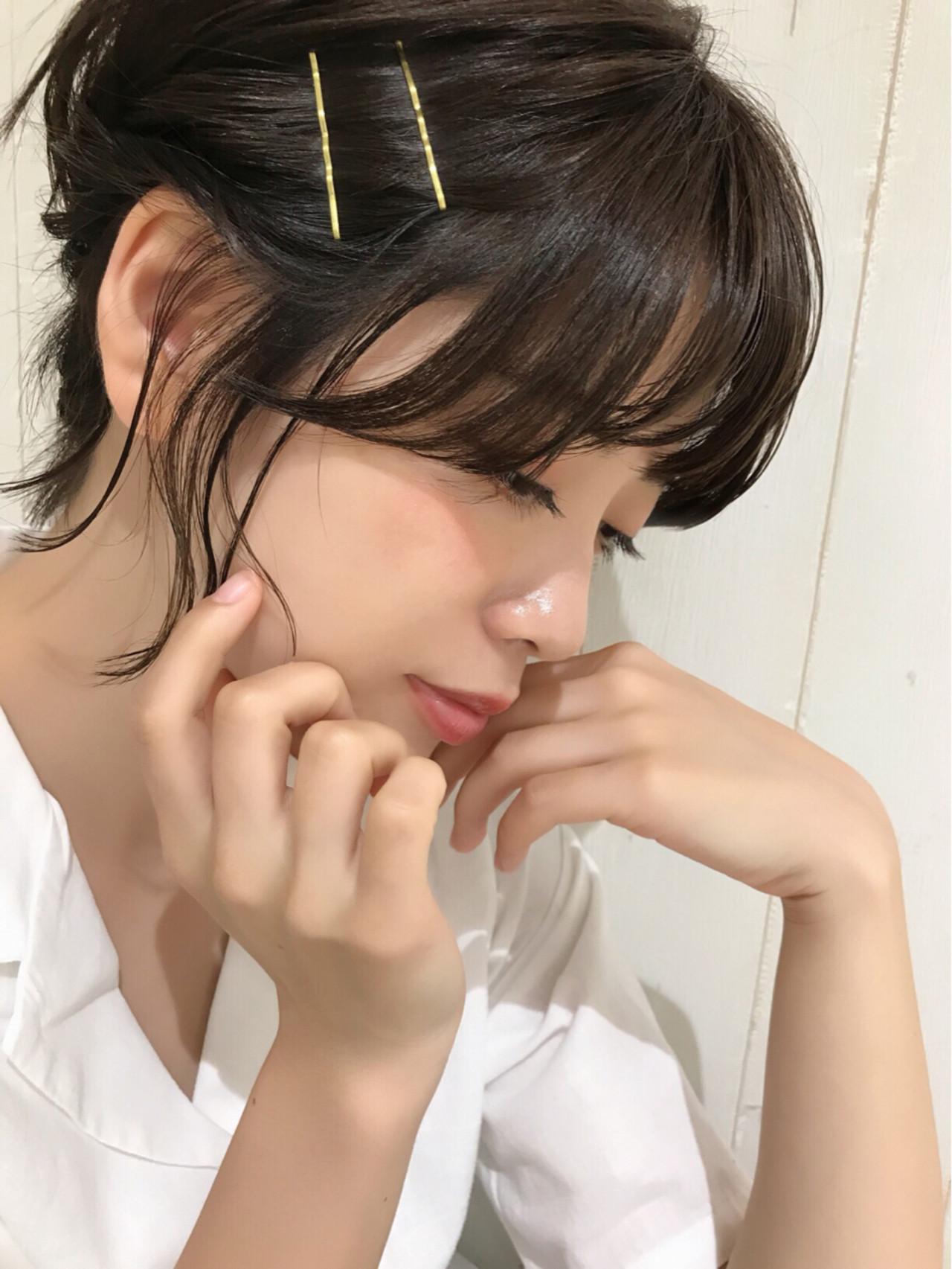 簡単ヘアアレンジ 女子力 ヘアアレンジ ガーリー ヘアスタイルや髪型の写真・画像