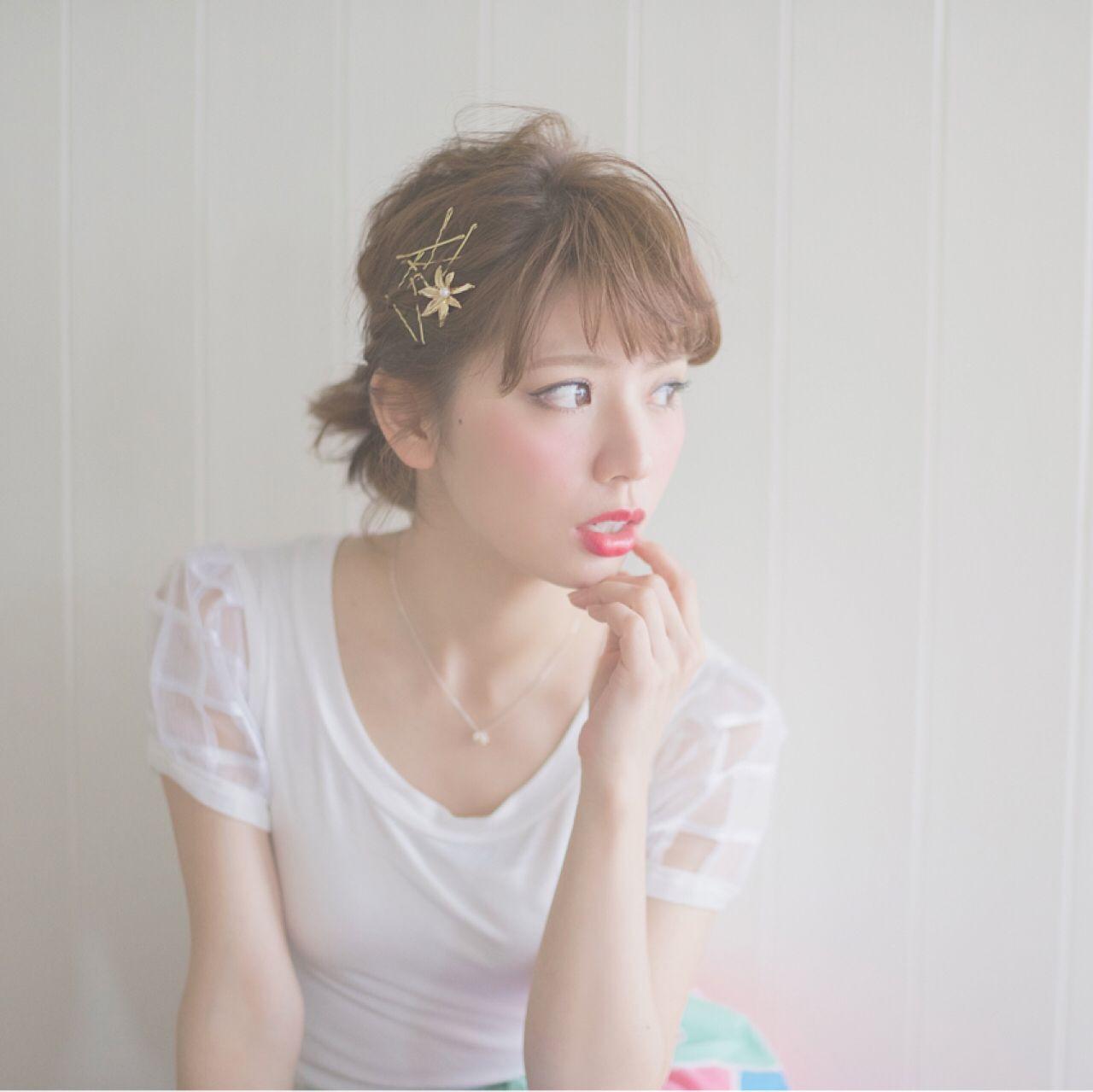 大人かわいい ポニーテール ヘアアレンジ ナチュラル ヘアスタイルや髪型の写真・画像