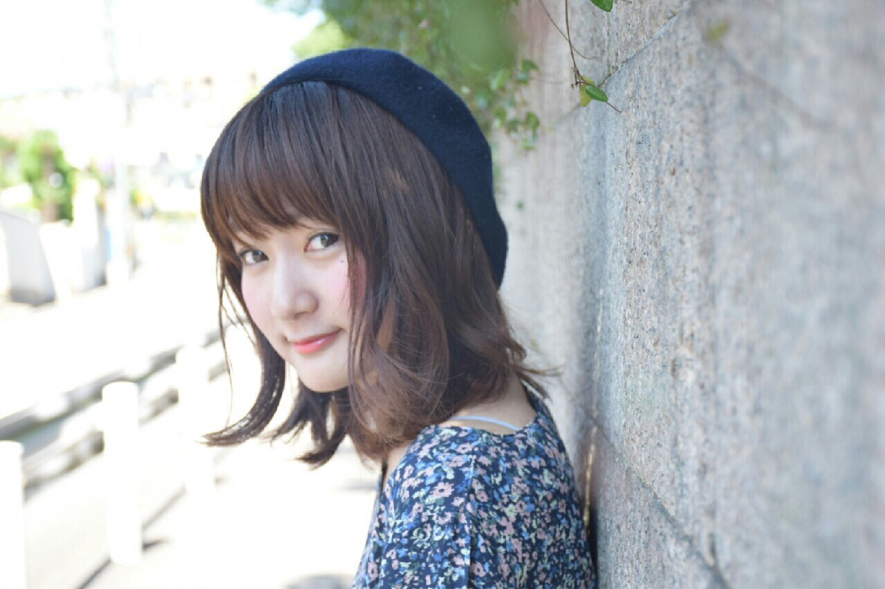 ナチュラル フェミニン ゆるふわ ベレー帽 ヘアスタイルや髪型の写真・画像