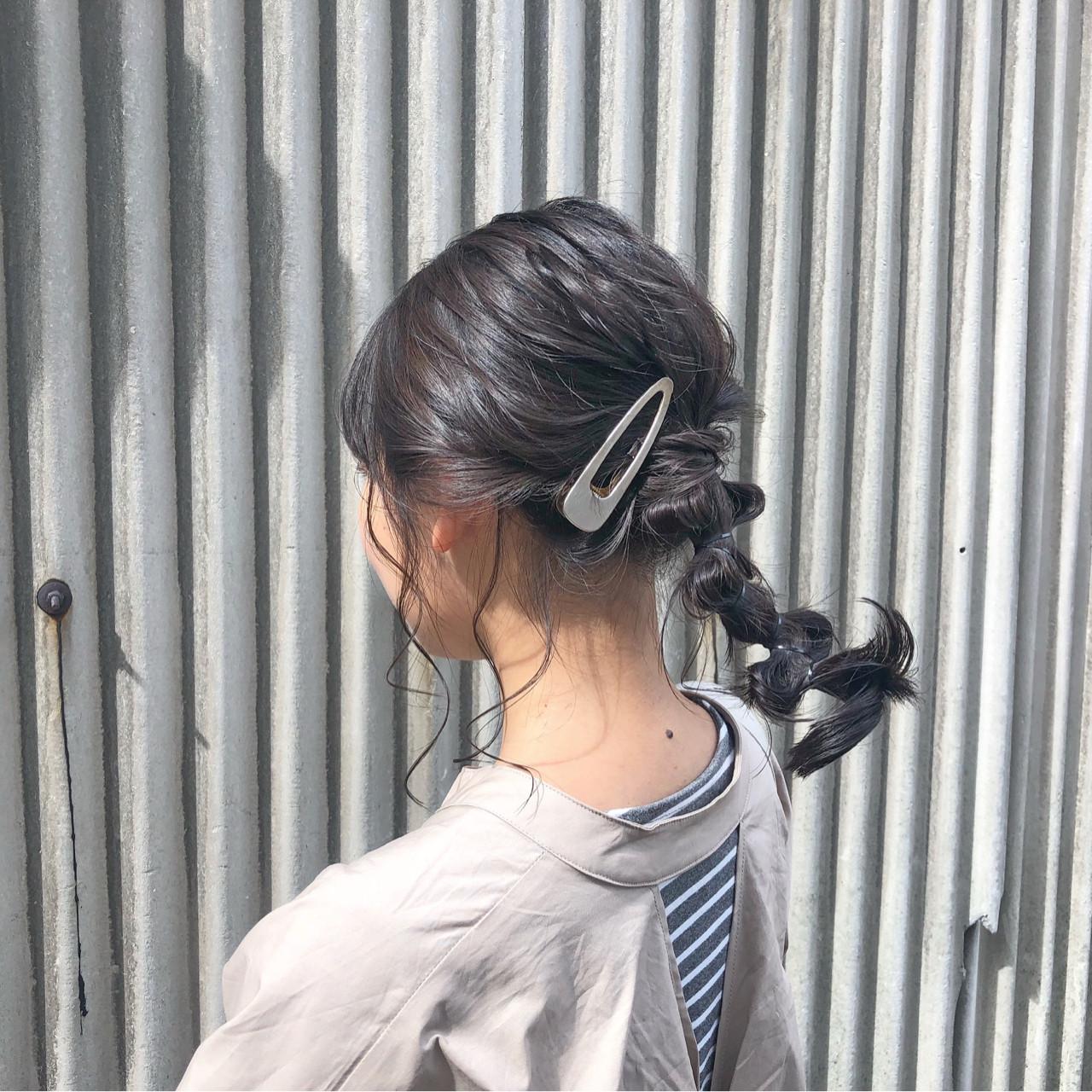 ゆるっと後れ毛を自然に出したポニーテール☆ 藤田成美 / oli