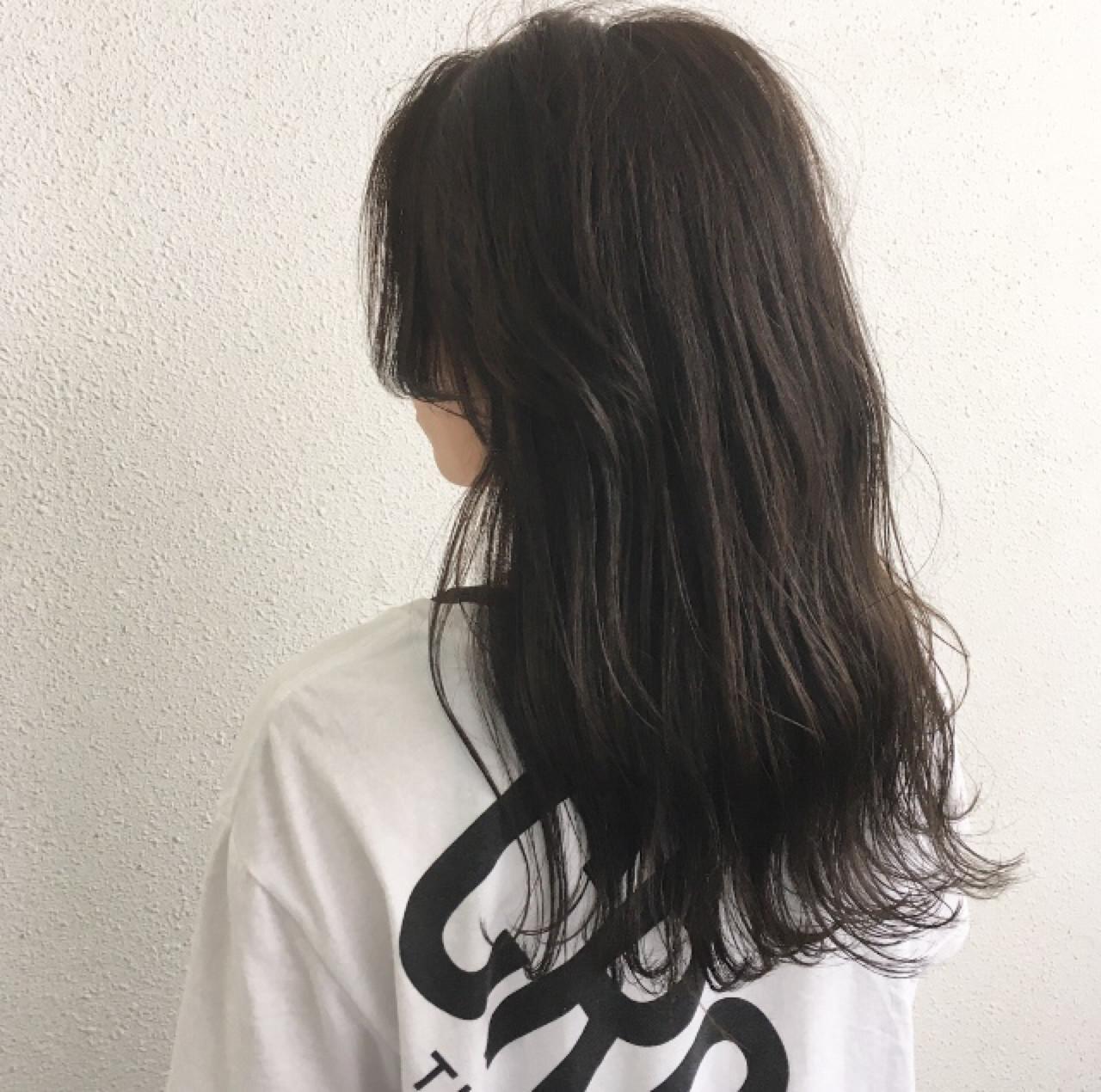 ロング 女子力 波ウェーブ 外ハネ ヘアスタイルや髪型の写真・画像