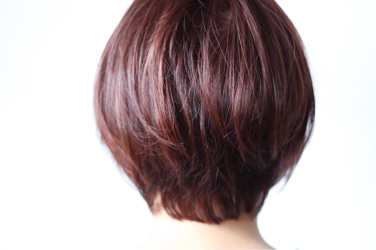 ピンク ボブ ひし形 ピンクアッシュ ヘアスタイルや髪型の写真・画像