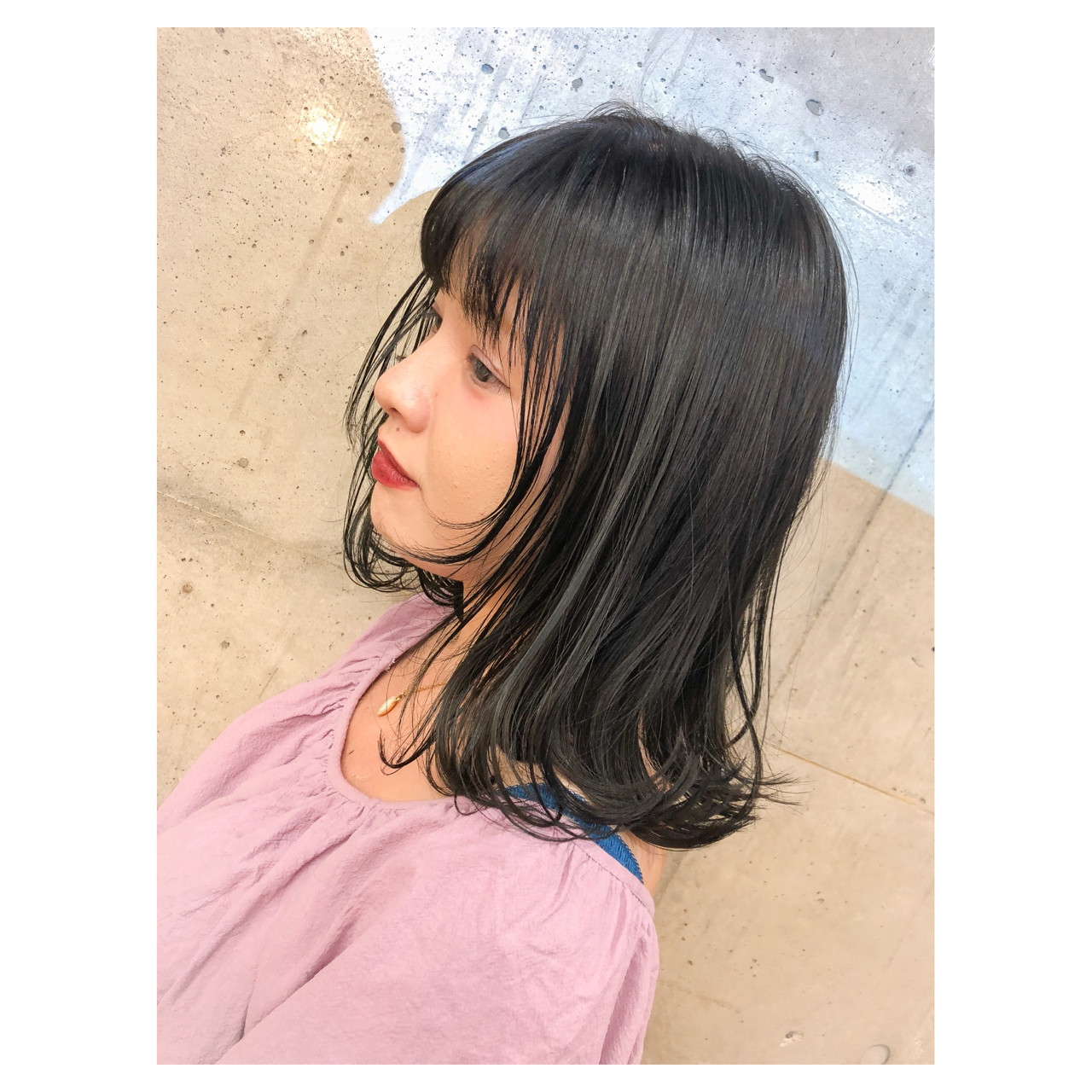 ラベンダーアッシュ ガーリー ミディアム ハイライト ヘアスタイルや髪型の写真・画像