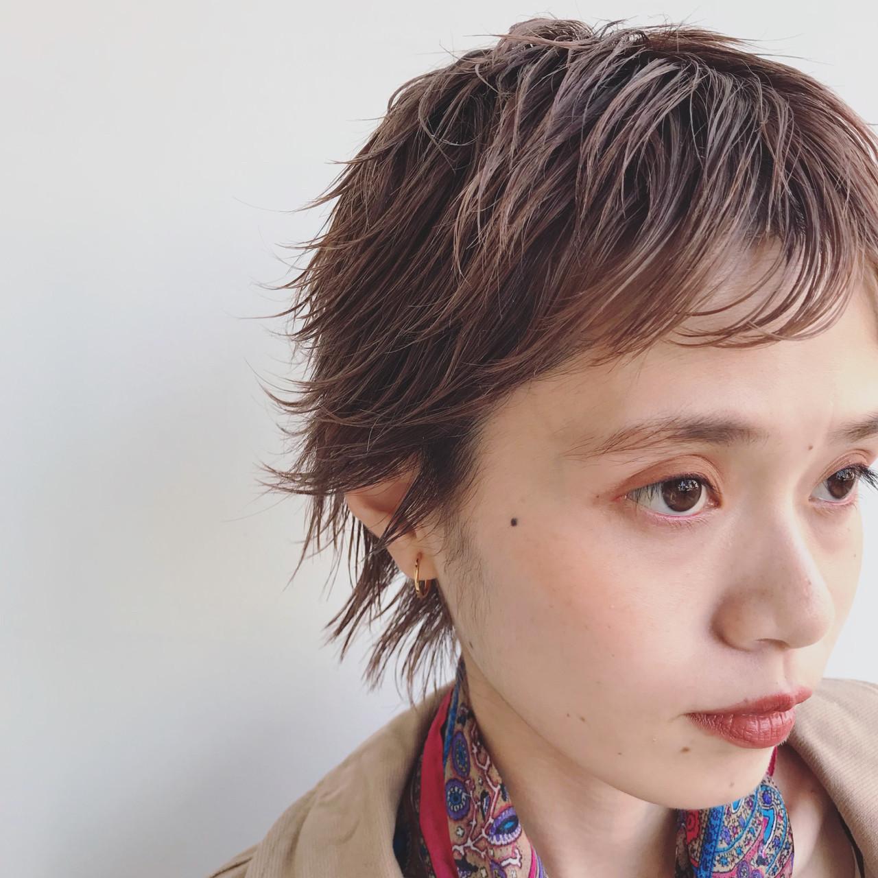 大人かわいい ハイトーン ショート 外国人風 ヘアスタイルや髪型の写真・画像