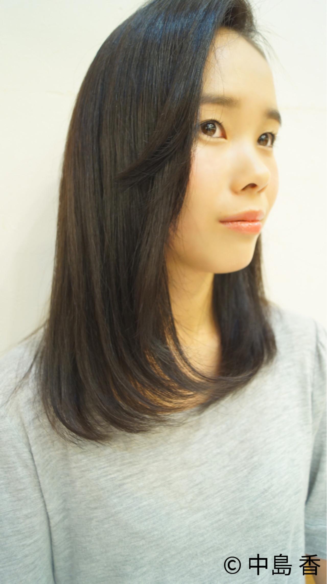 できる女性像にピッタリ☆重い黒髪の篠原涼子風ヘア 中島 香