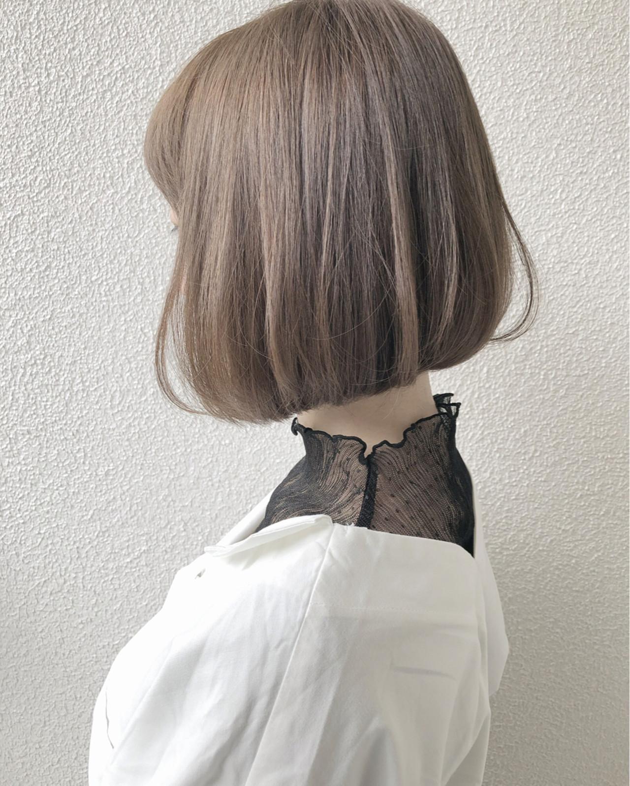 お人形さんみたいなミルクティーアッシュボブ taku  La familia hair home