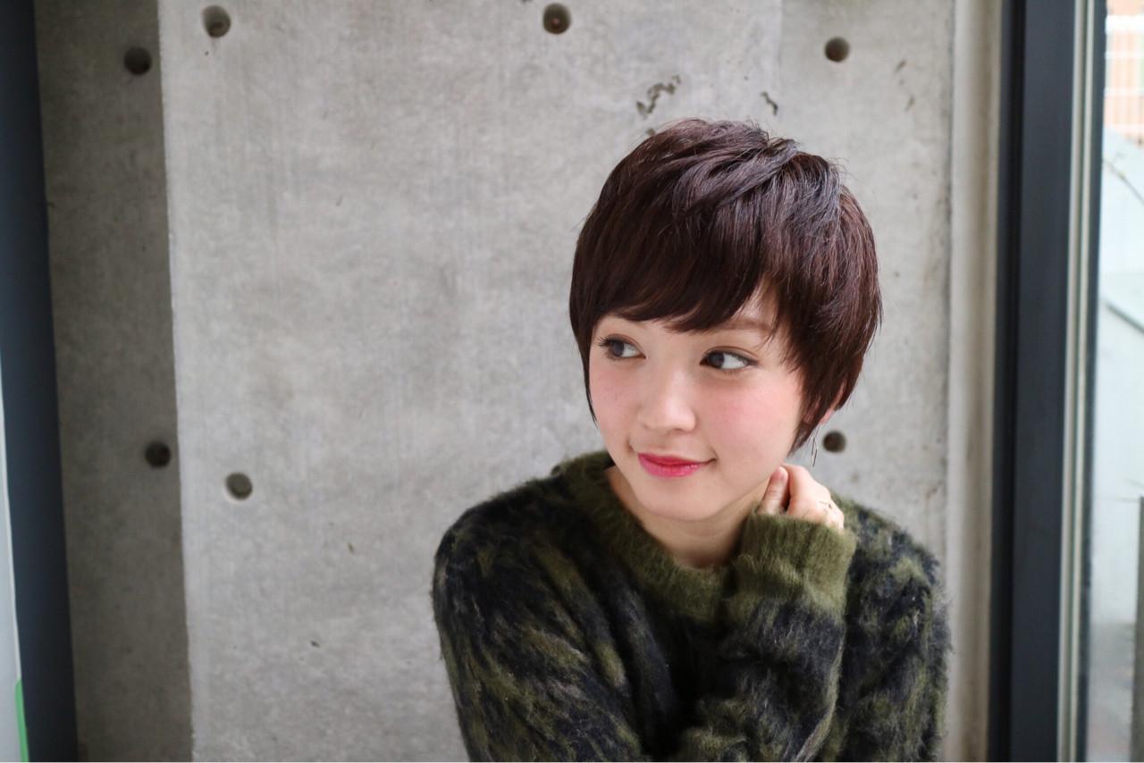 ナチュラル ショート ベリーショート 透明感 ヘアスタイルや髪型の写真・画像