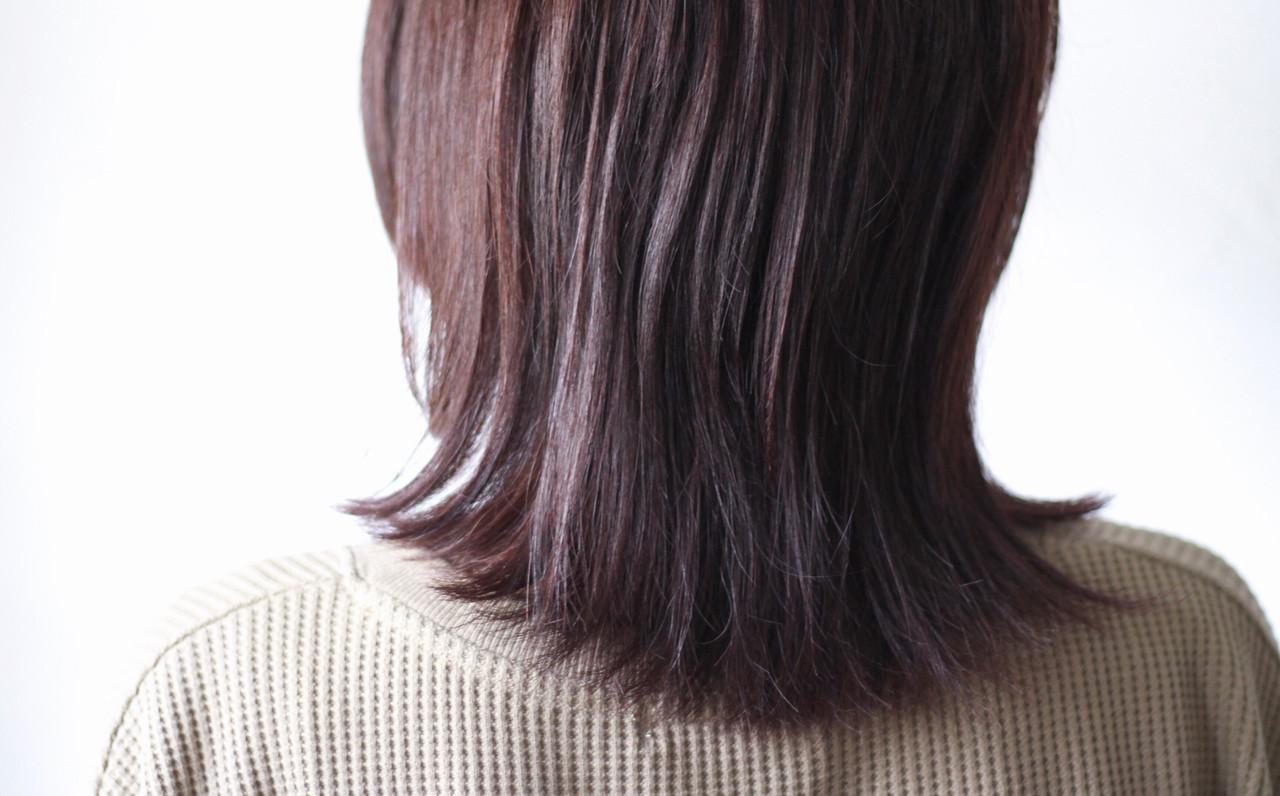 ラベンダー ナチュラル ミディアム ブラウン ヘアスタイルや髪型の写真・画像