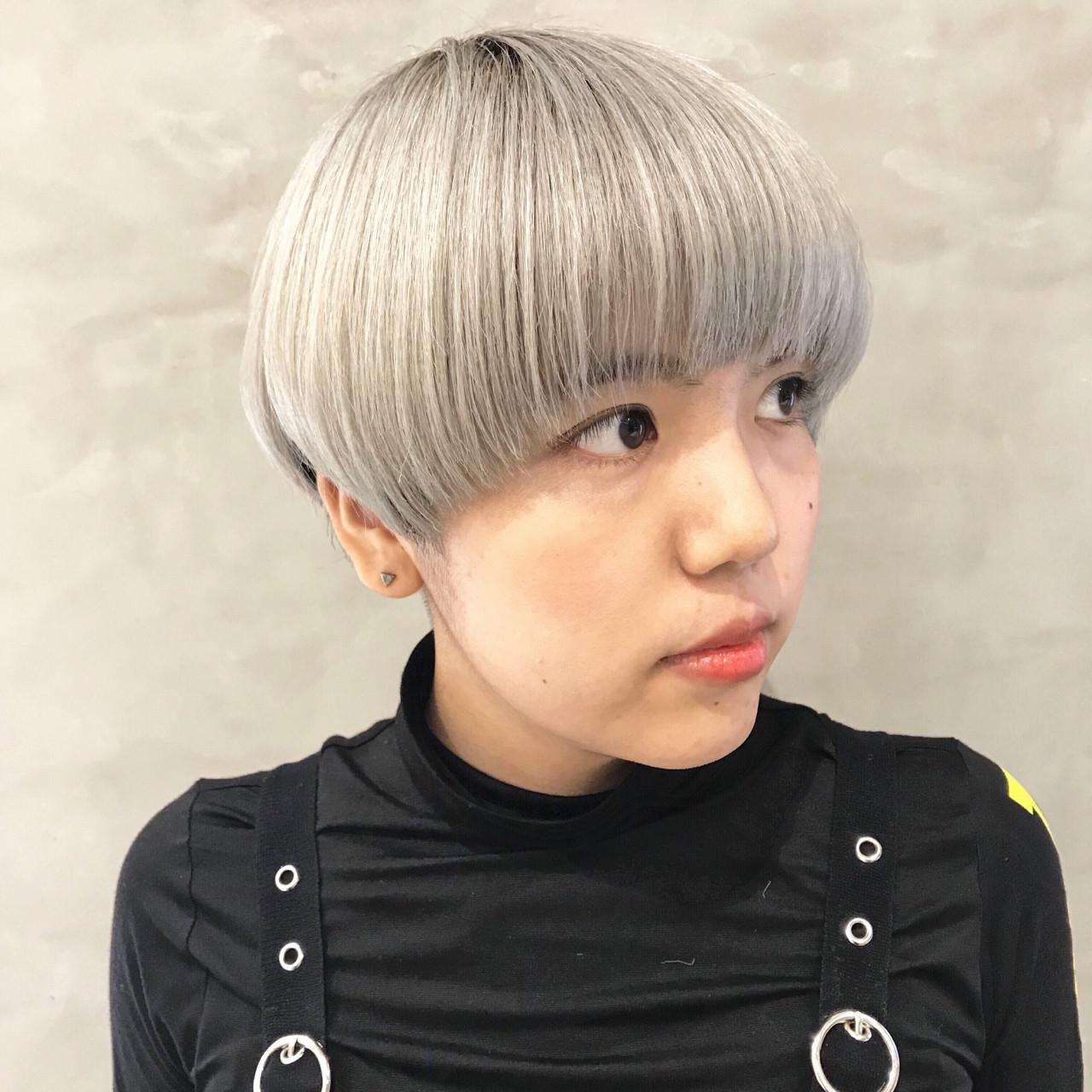 前髪パッツン オン眉 女子力 ショート ヘアスタイルや髪型の写真・画像