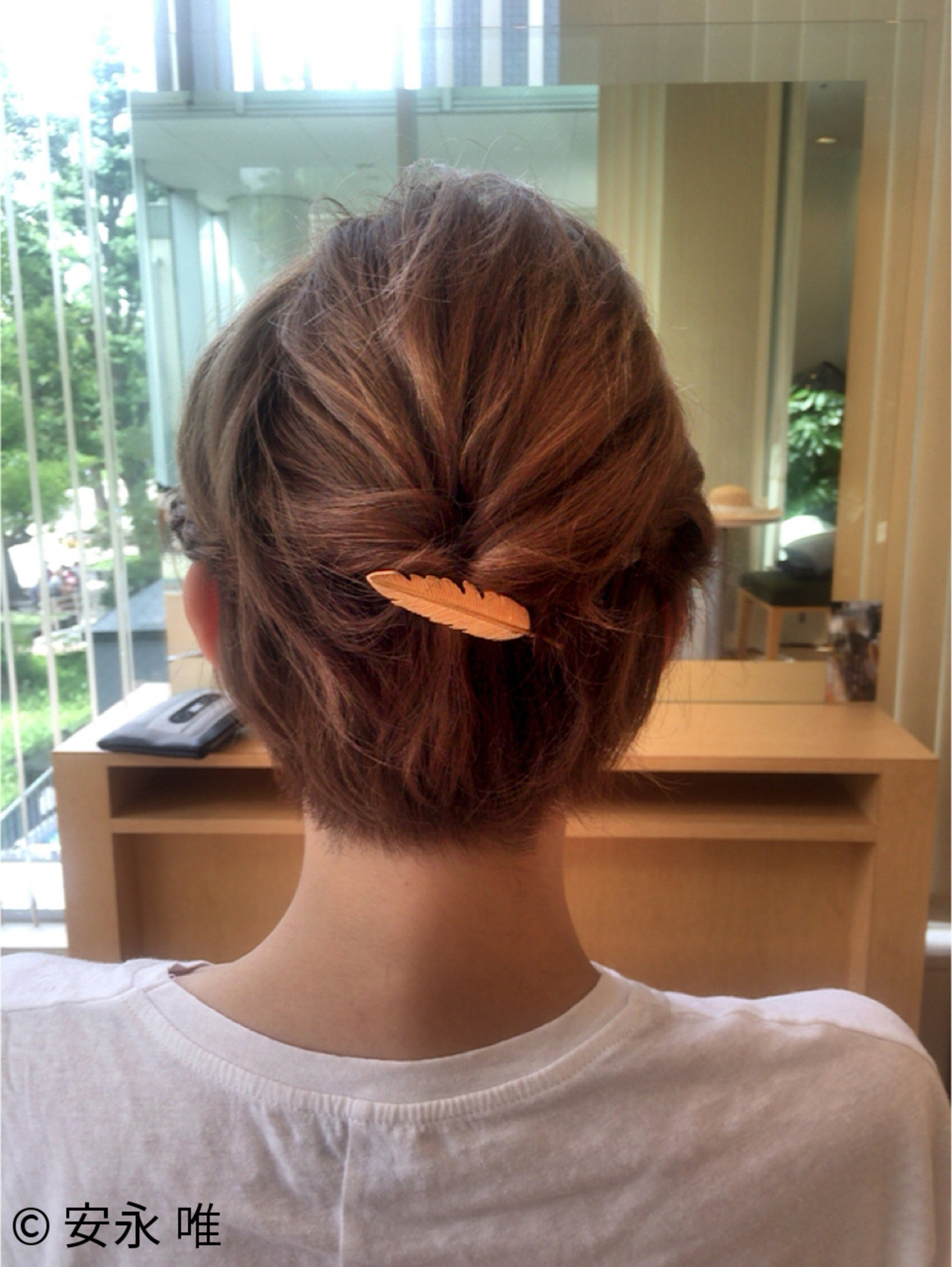 ヘアアレンジ ハイトーン まとめ髪 ショート ヘアスタイルや髪型の写真・画像
