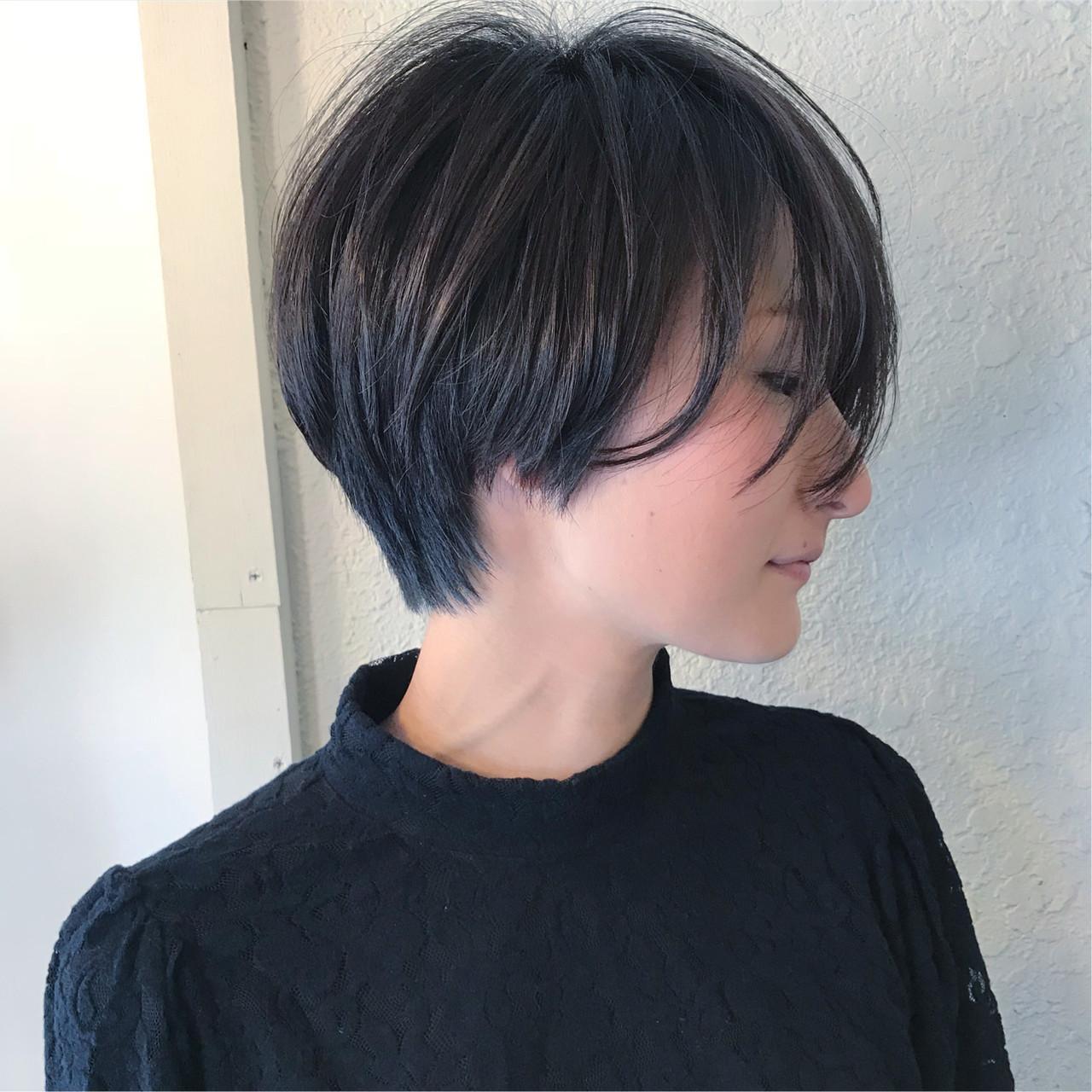ショート 似合わせ かっこいい ナチュラル ヘアスタイルや髪型の写真・画像