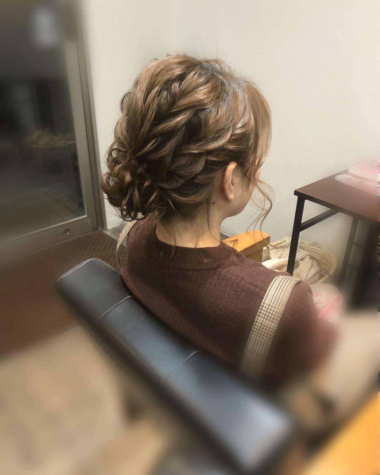 フェミニン アップスタイル ショート ヘアアレンジ ヘアスタイルや髪型の写真・画像
