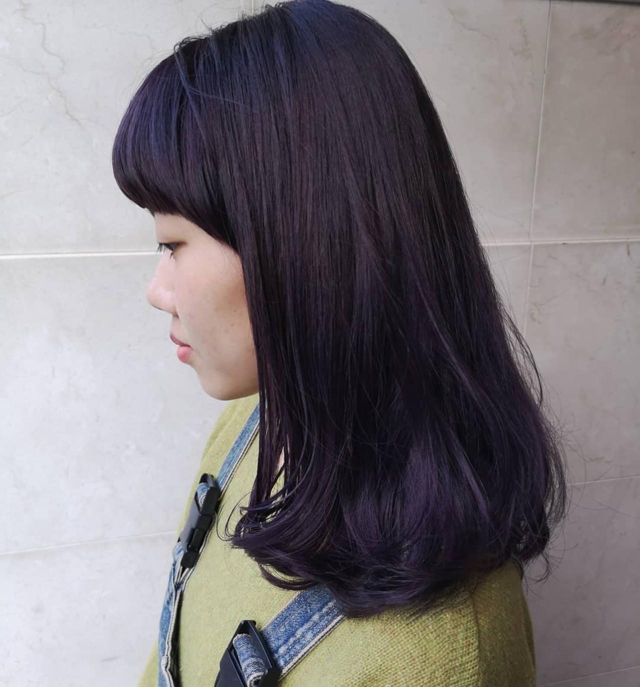 バイトもOK?暗めパープルカラーヘア Yusuke Matsumoto