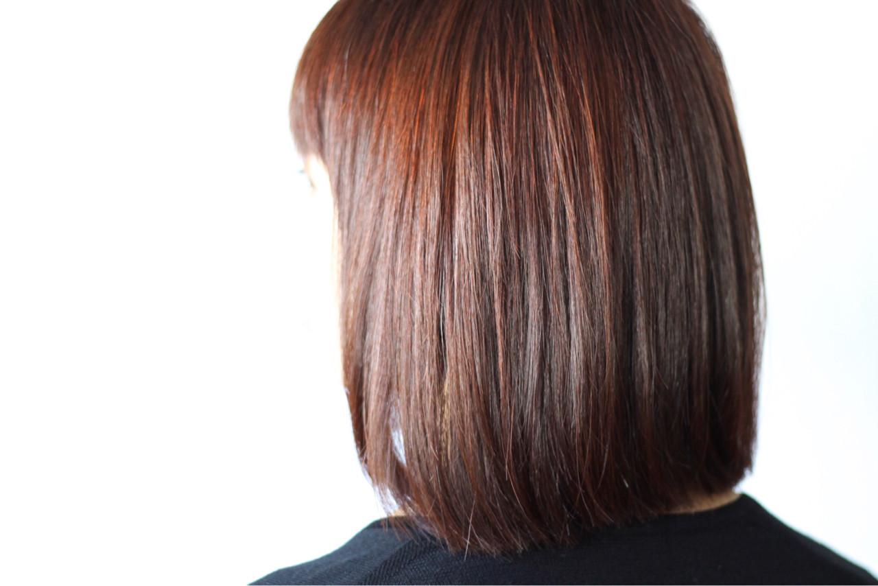 赤系好きのためのブラウンカラーヘア creap