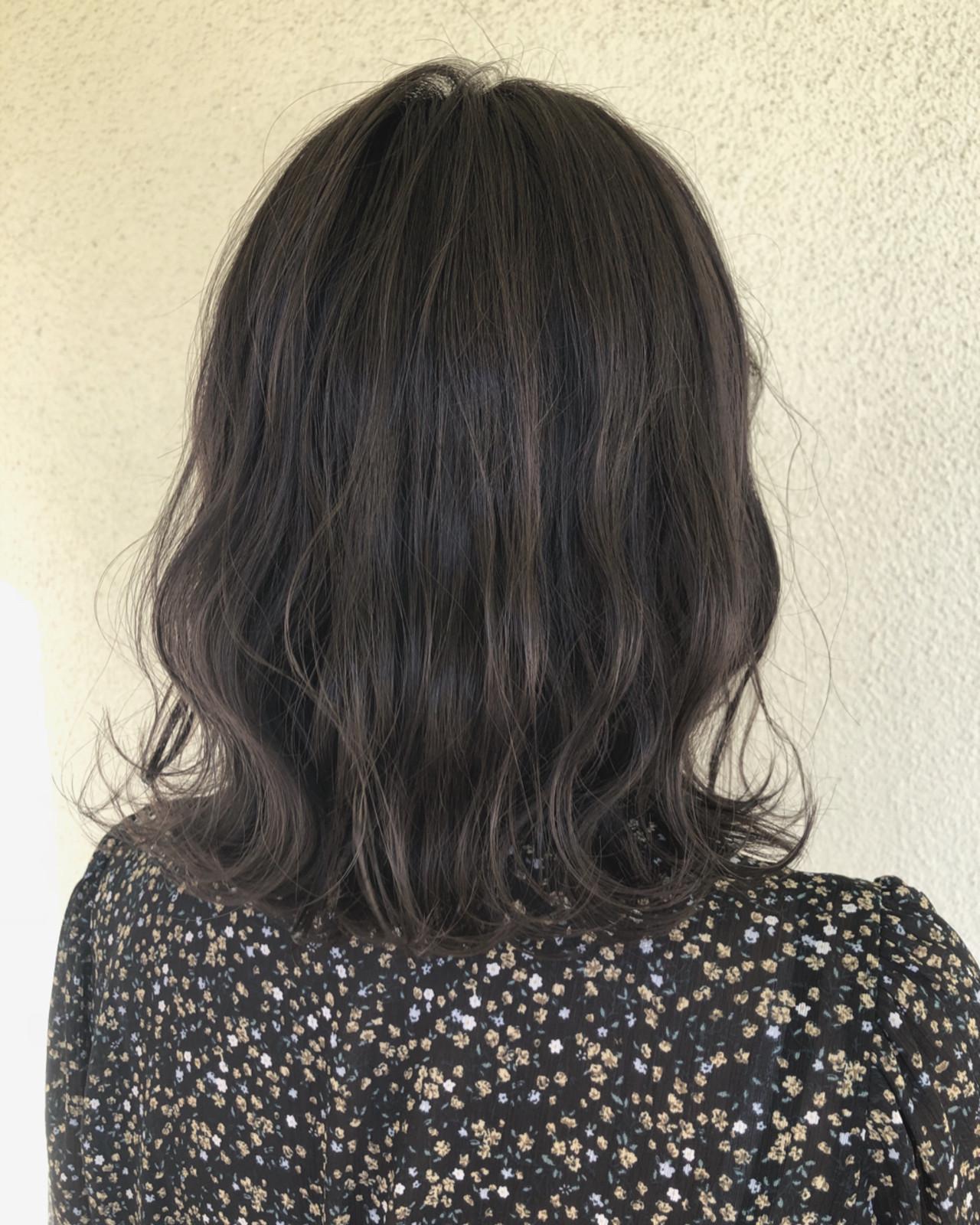 プラスハイライトのグレージュアッシュヘア♡ TAKE