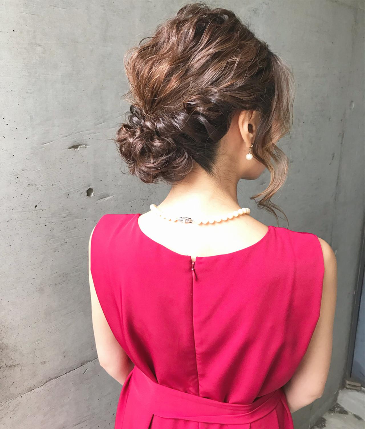 結婚式 アップスタイル フェミニン 大人かわいい ヘアスタイルや髪型の写真・画像