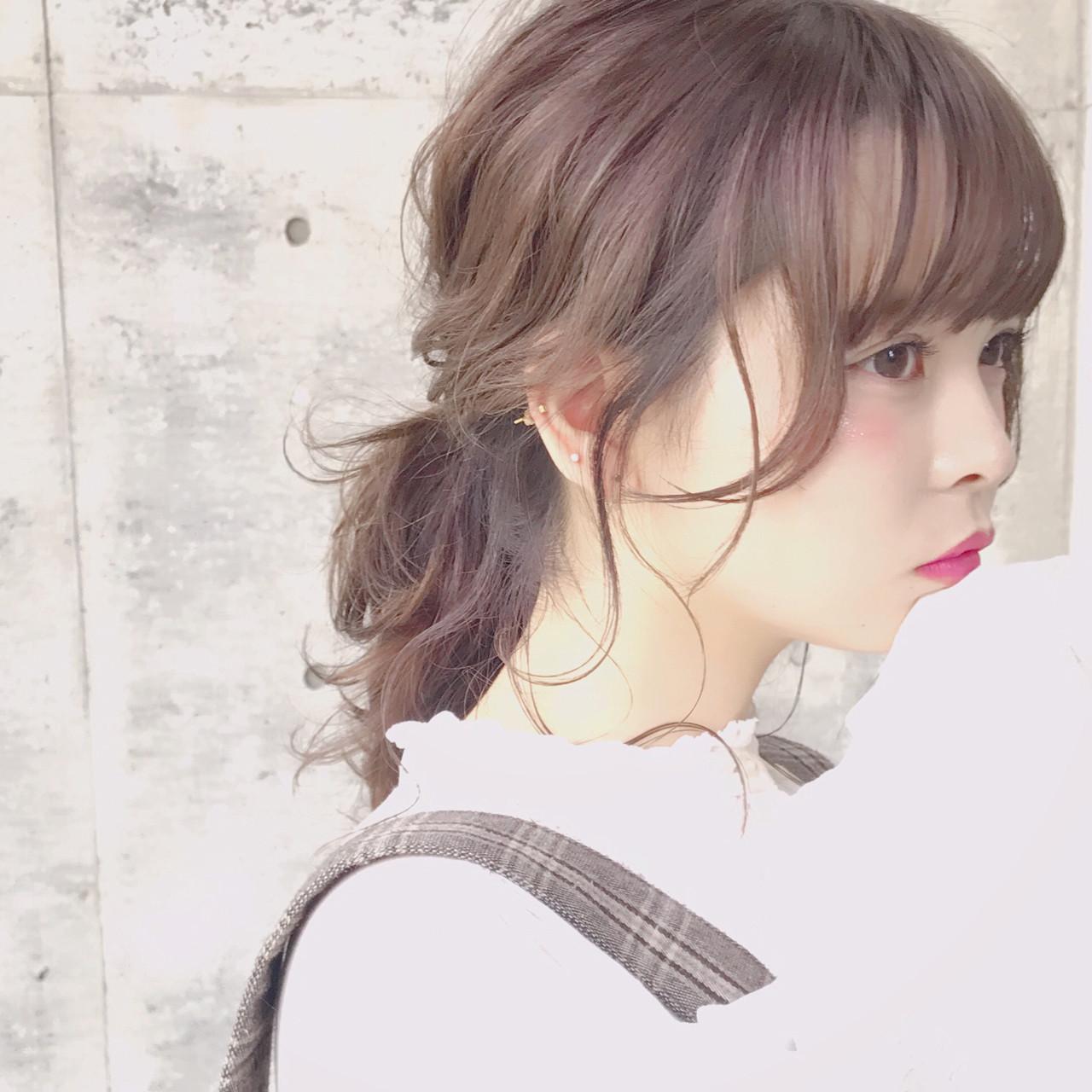 フェミニン ポニーテール 簡単ヘアアレンジ おフェロ ヘアスタイルや髪型の写真・画像