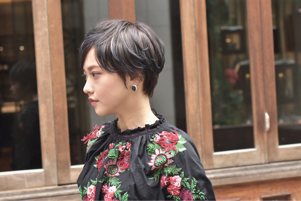 ワンポイントでぬけ感をプラス カワノナオト【福岡美容師】