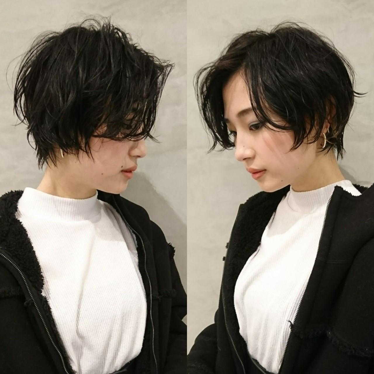 黒髪 ショート モード 似合わせ ヘアスタイルや髪型の写真・画像