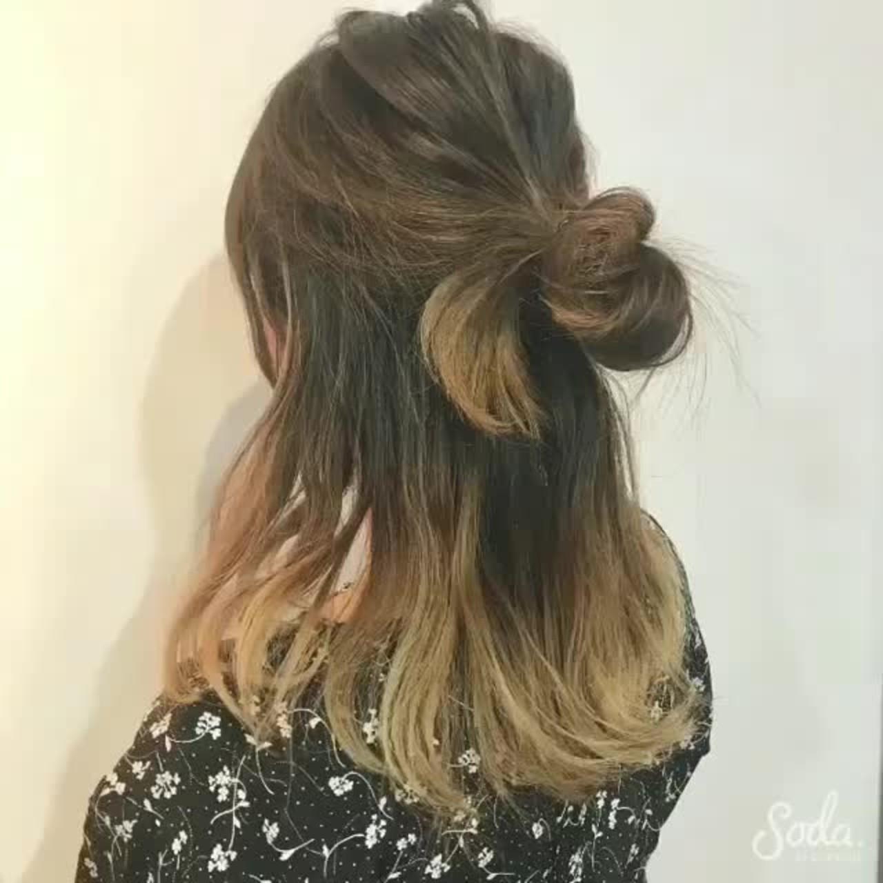 忙しい時でもすぐできるミディアムヘアの簡単アレンジ yamashita manami | Oto