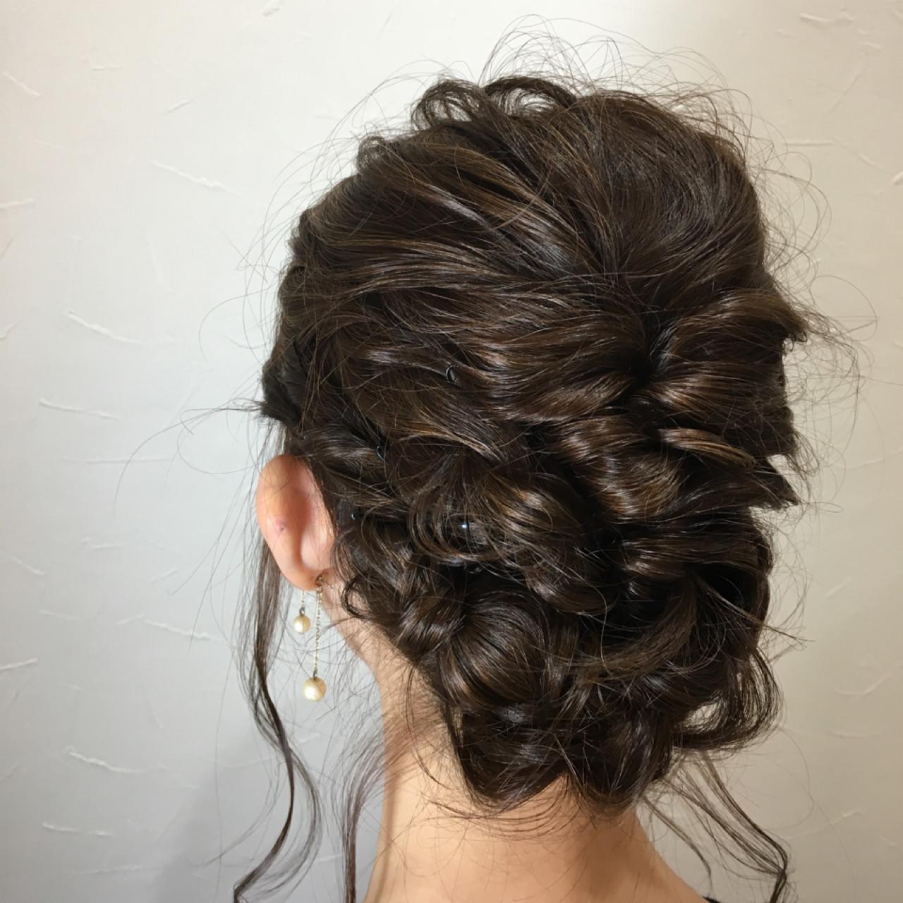 結婚式などのお呼ばれヘアにも ⓂⒾⓎⓊⓀⒾ