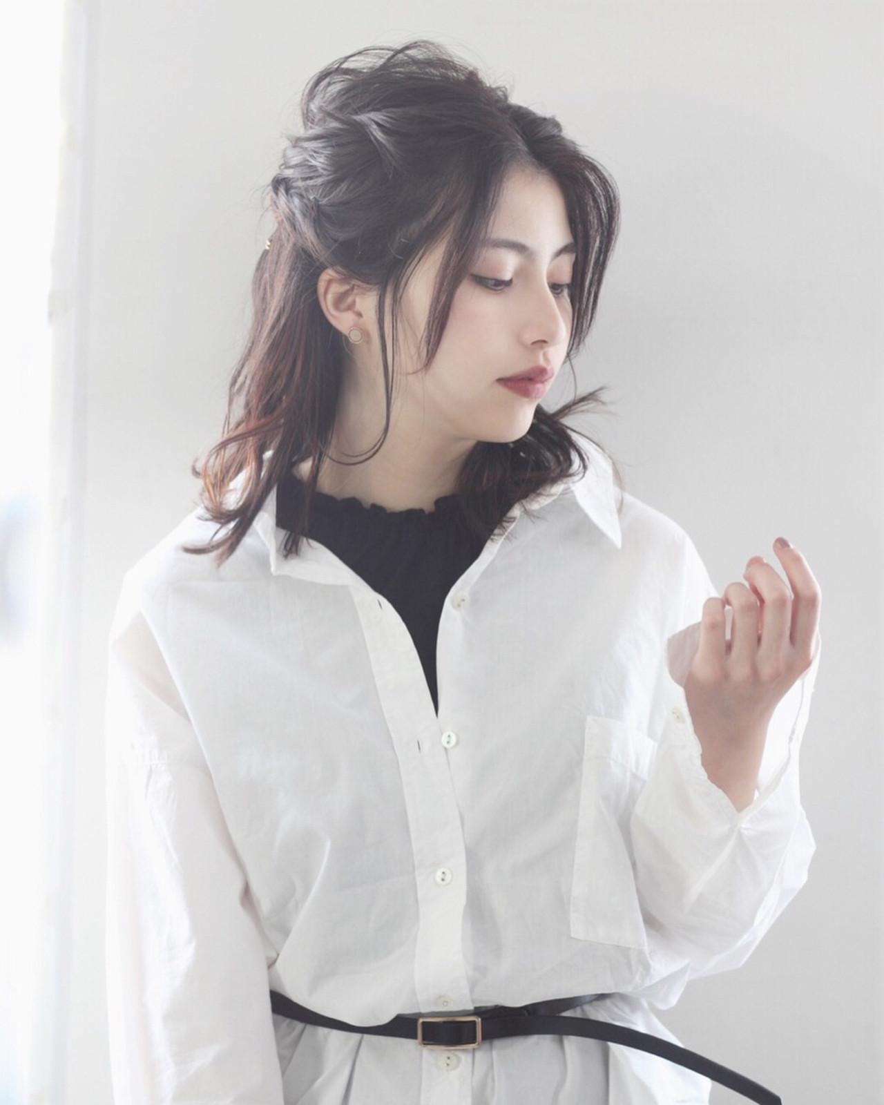 海外セレブ風ハーフアップ Sasaki Ayumi | mod's hair 新宿サウス店