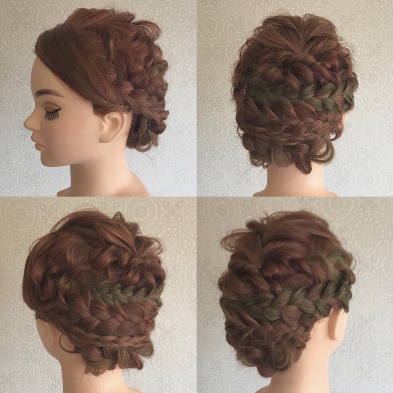 たくさんの編み込みで大人可愛いまとめ髪に♪ Mina Ishii