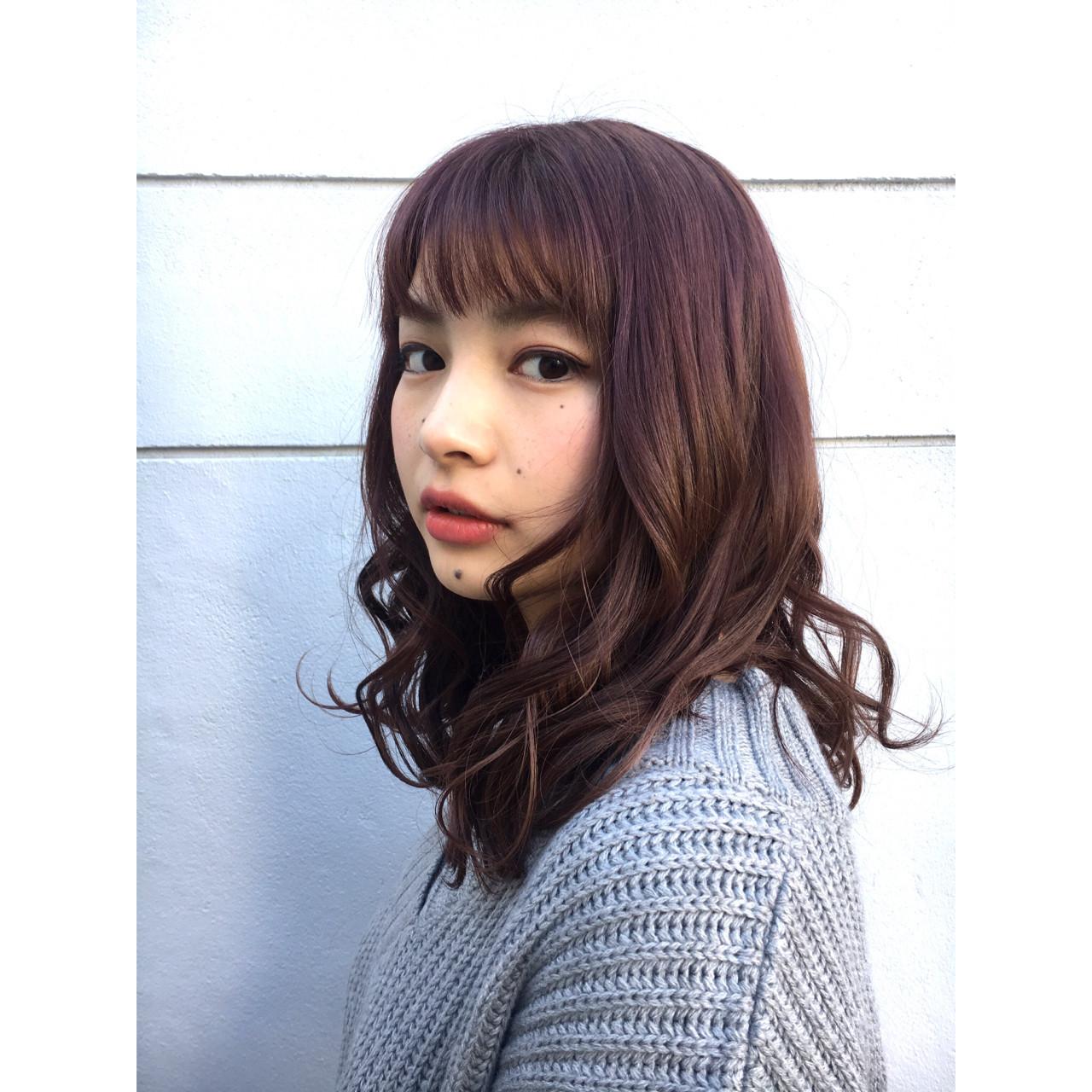 ラベンダーピンク×アッシュの大人のこなれ小顔スタイル♡ TAKUMI KAWAHORI