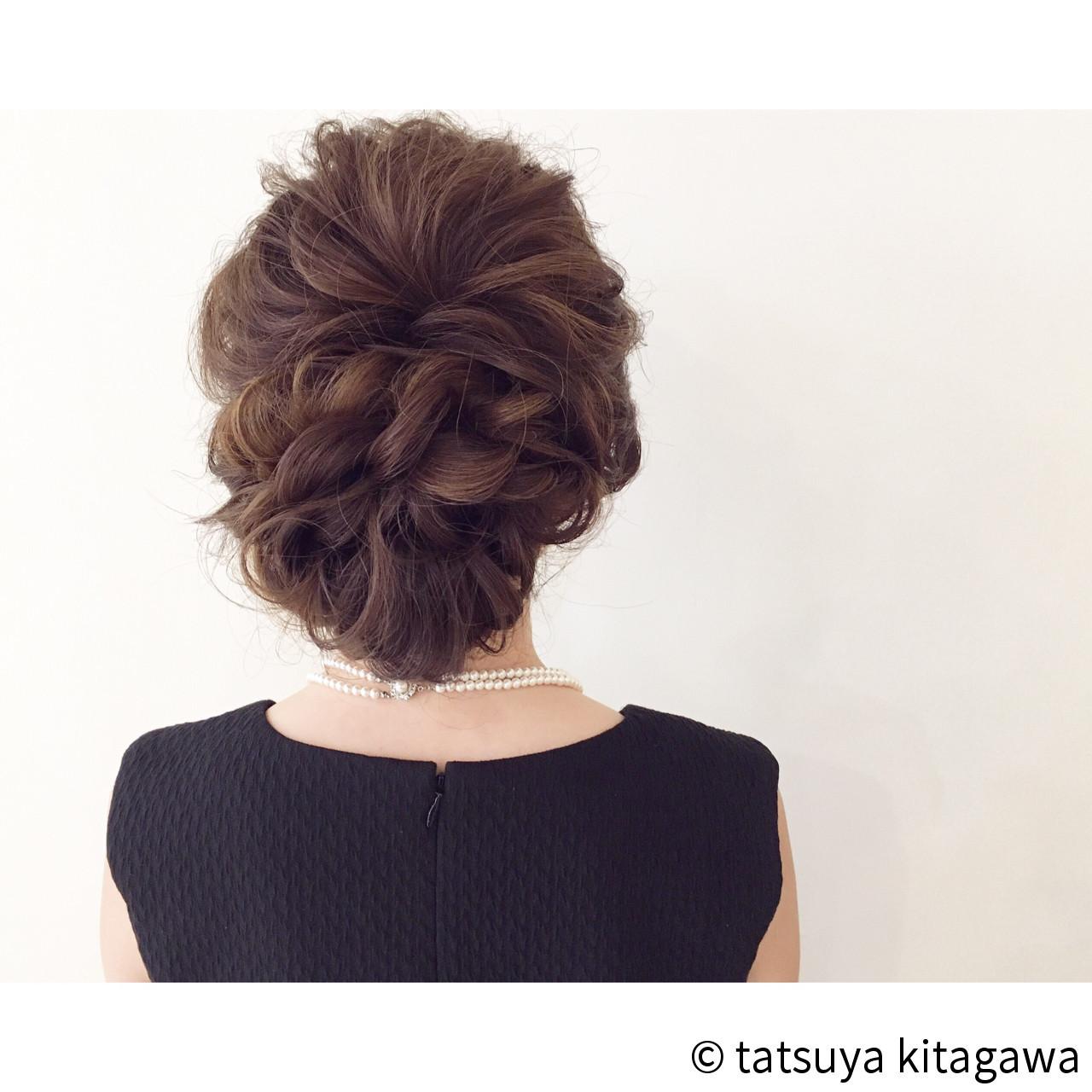 ロングヘアのアップスタイル tatsuya kitagawa