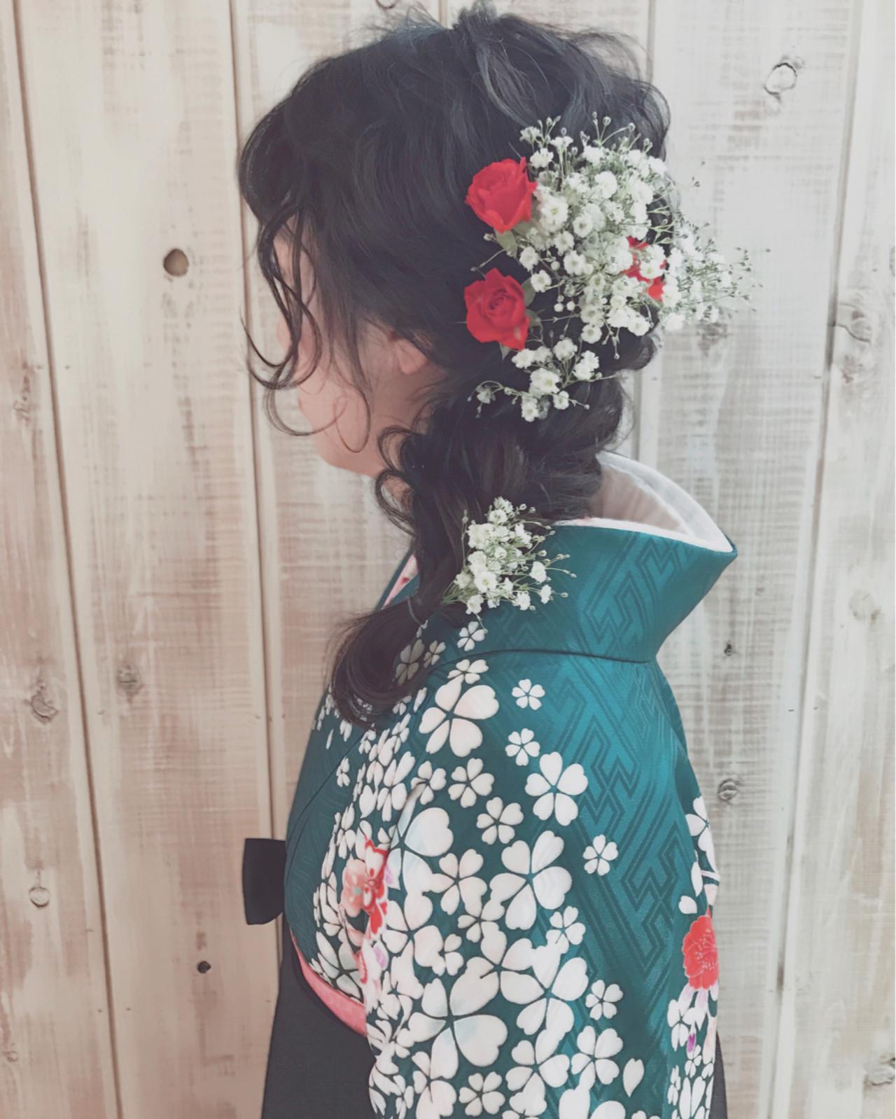 ゆるふわにまとめた卒業式らしい編み下ろしスタイル 堀川 千枝