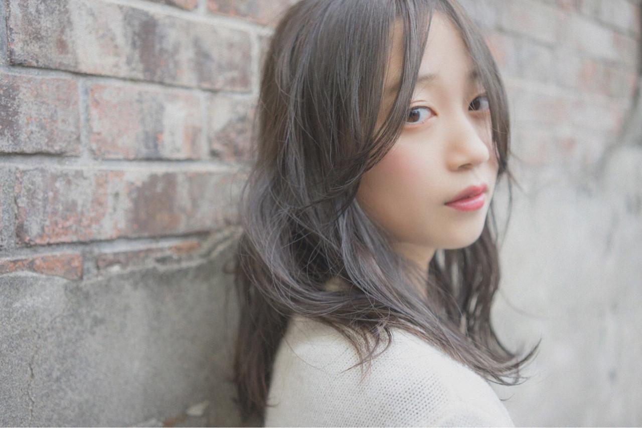 ゆるふわフェミニンなモテ髪ラベンダー×アッシュブラウン 桝田 由佳