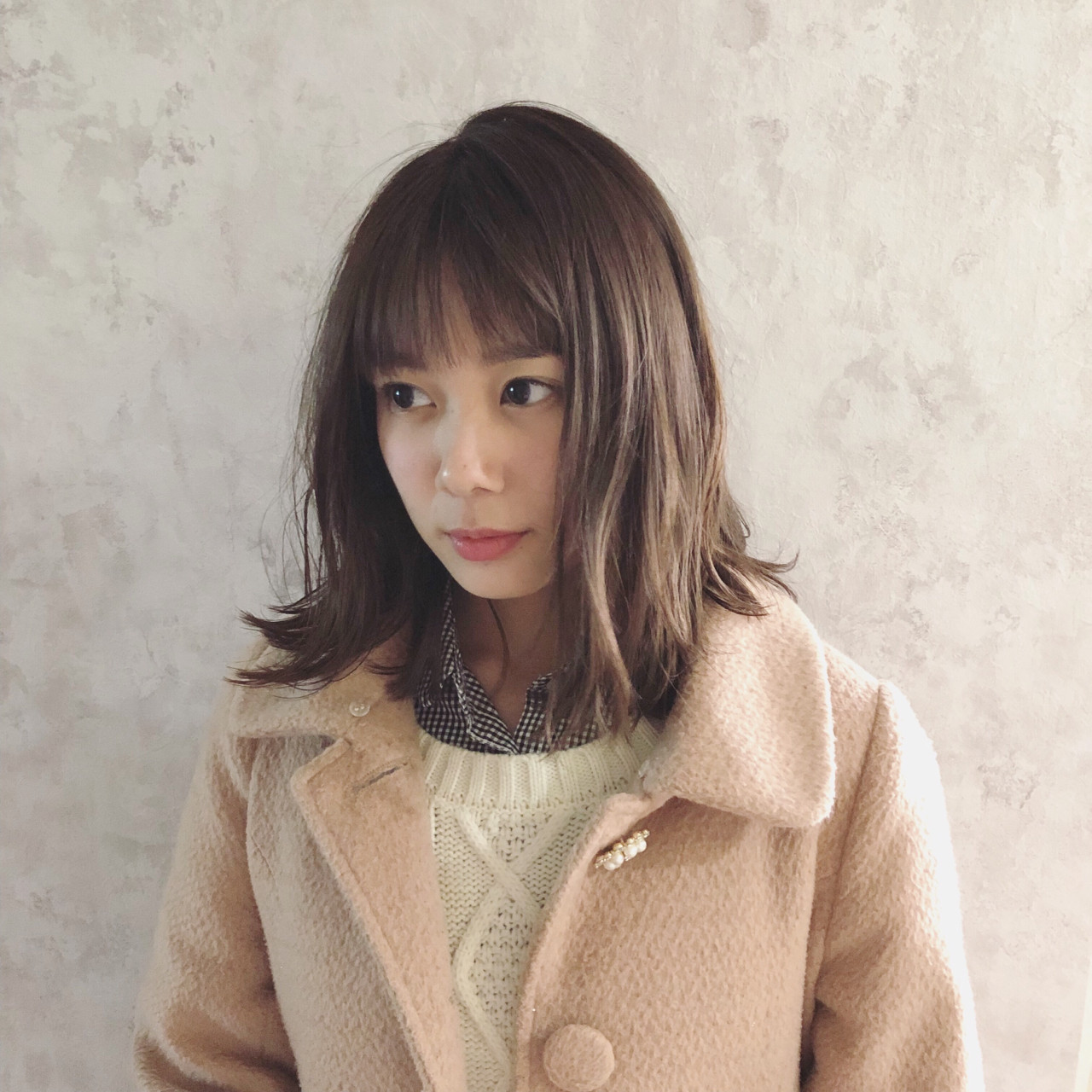 ラベンダーベージュの透明感のあるミディアムヘア♡ 宮崎 陽介