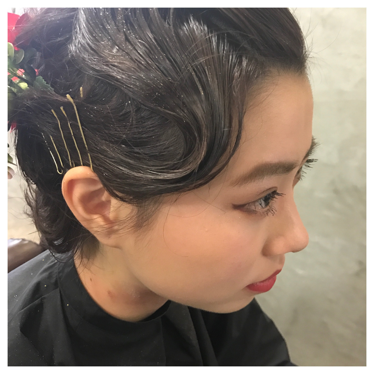 ショートヘアのアップスタイル 金澤 奈々