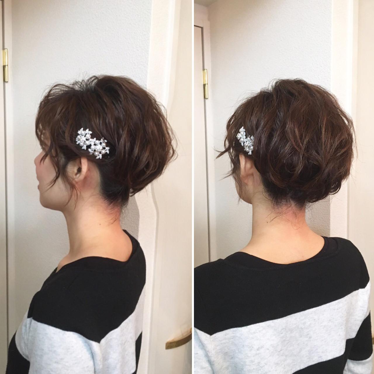 ショートヘアのアップスタイルタイル a-ko