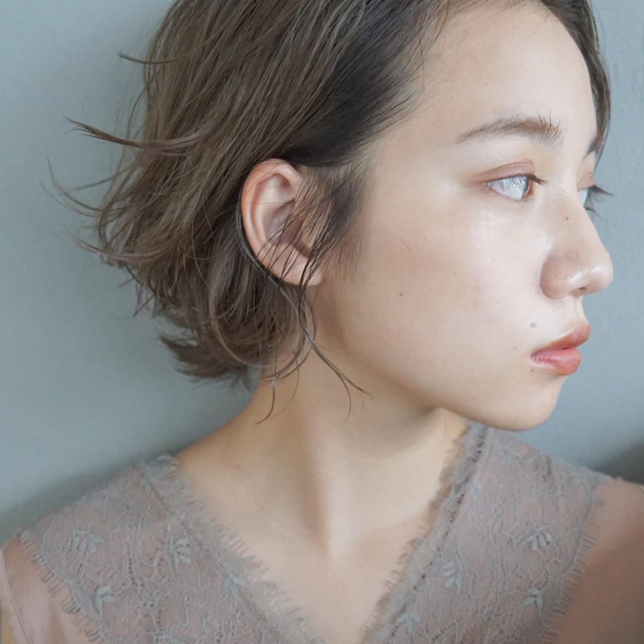 くせ毛風がおしゃれ♡な外ハネショートヘア UEKI/nanuk