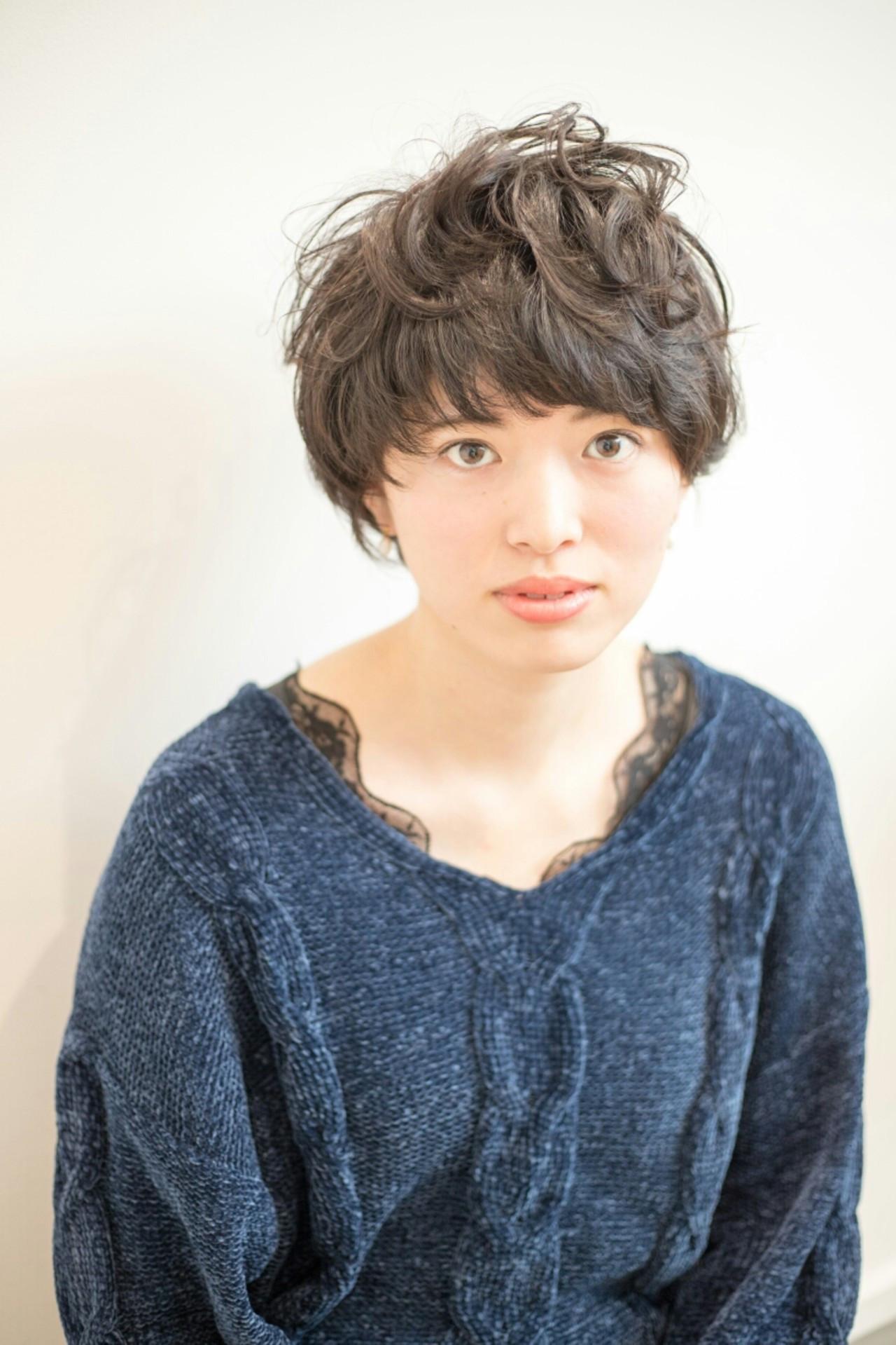 パーマを当てて丸顔さんはひし形を意識して Naoki Ozawa