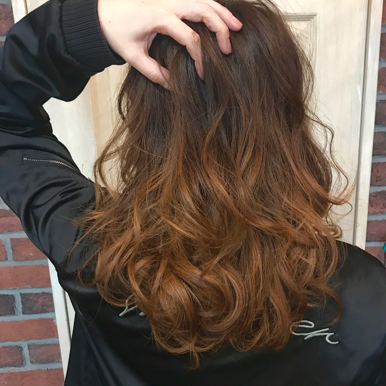 ガーリー デジタルパーマ 外国人風カラー 外国人風 ヘアスタイルや髪型の写真・画像