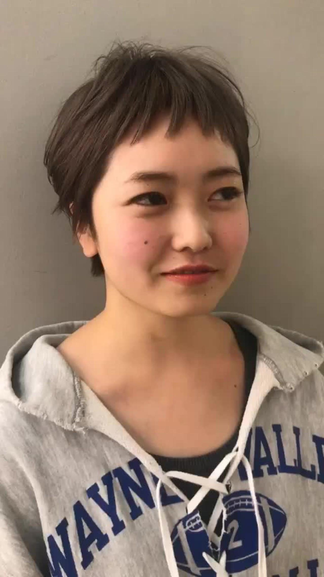 ラウンドバングのベリーショートはキュート♡ 仙頭郁弥 | loji+LIM