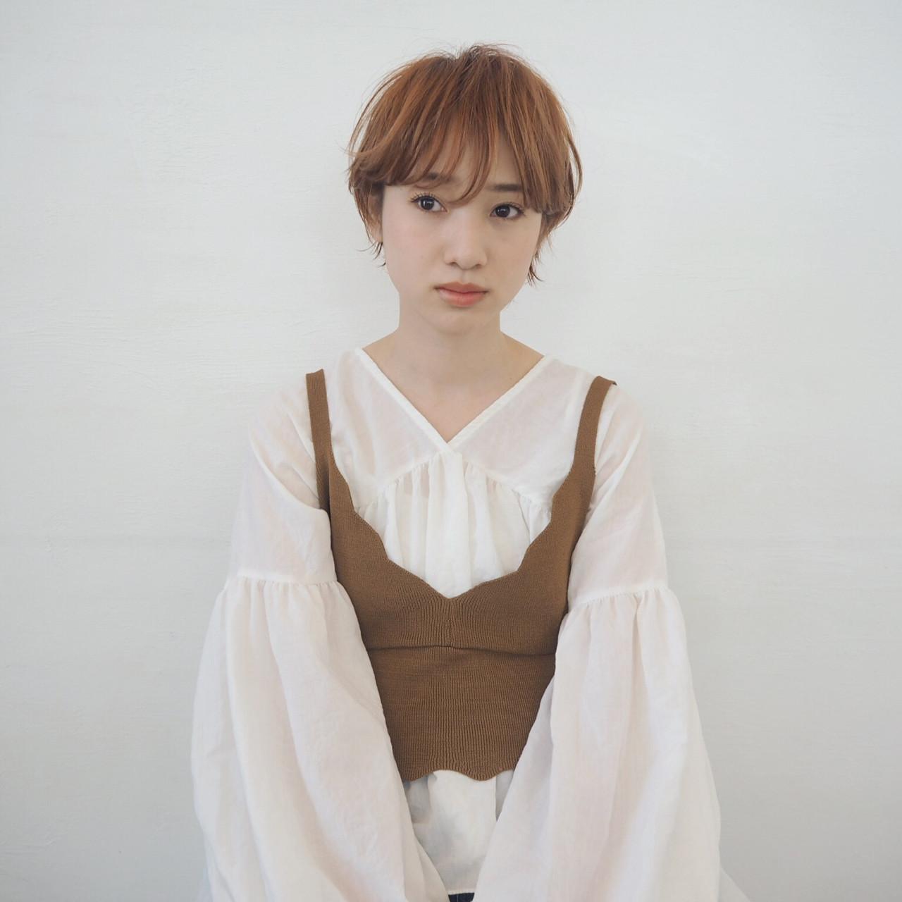 暗めオレンジ系ベージュで大人っぽショート☆ 宮迫 真美