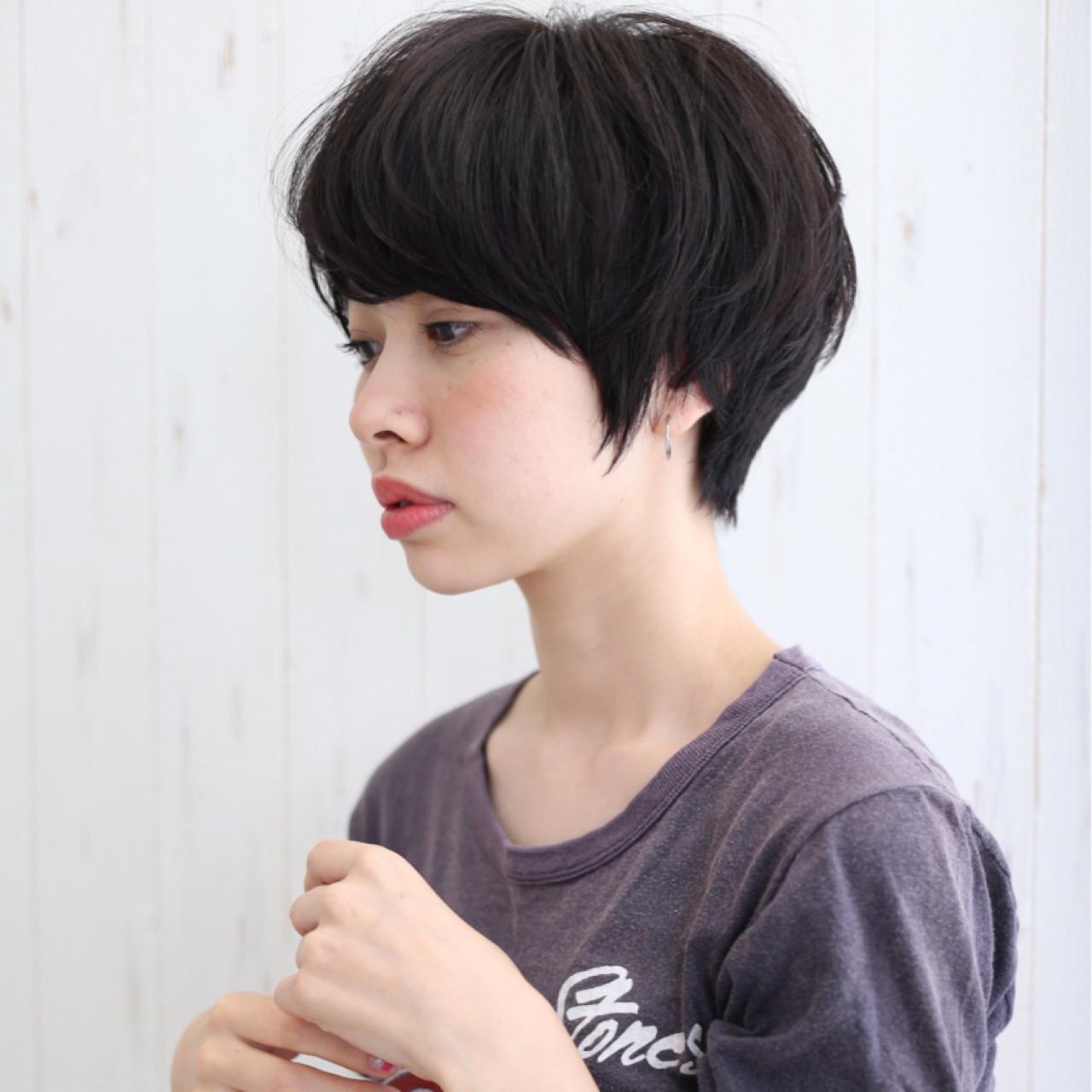 似合わせカットでもっとかわいく☆面長さんのショートヘア 我妻智紀