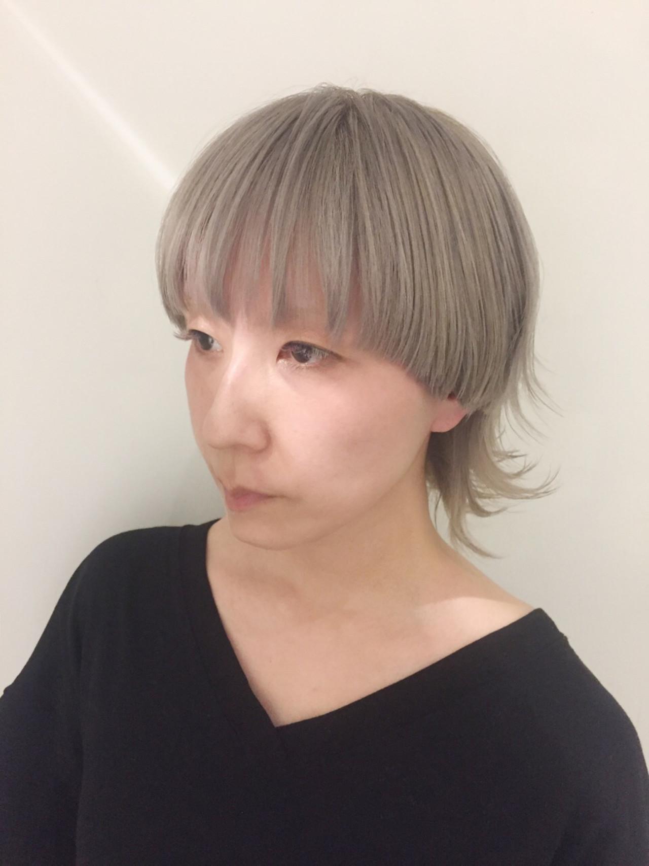 ウルフカット ショート 外国人風カラー マッシュ ヘアスタイルや髪型の写真・画像