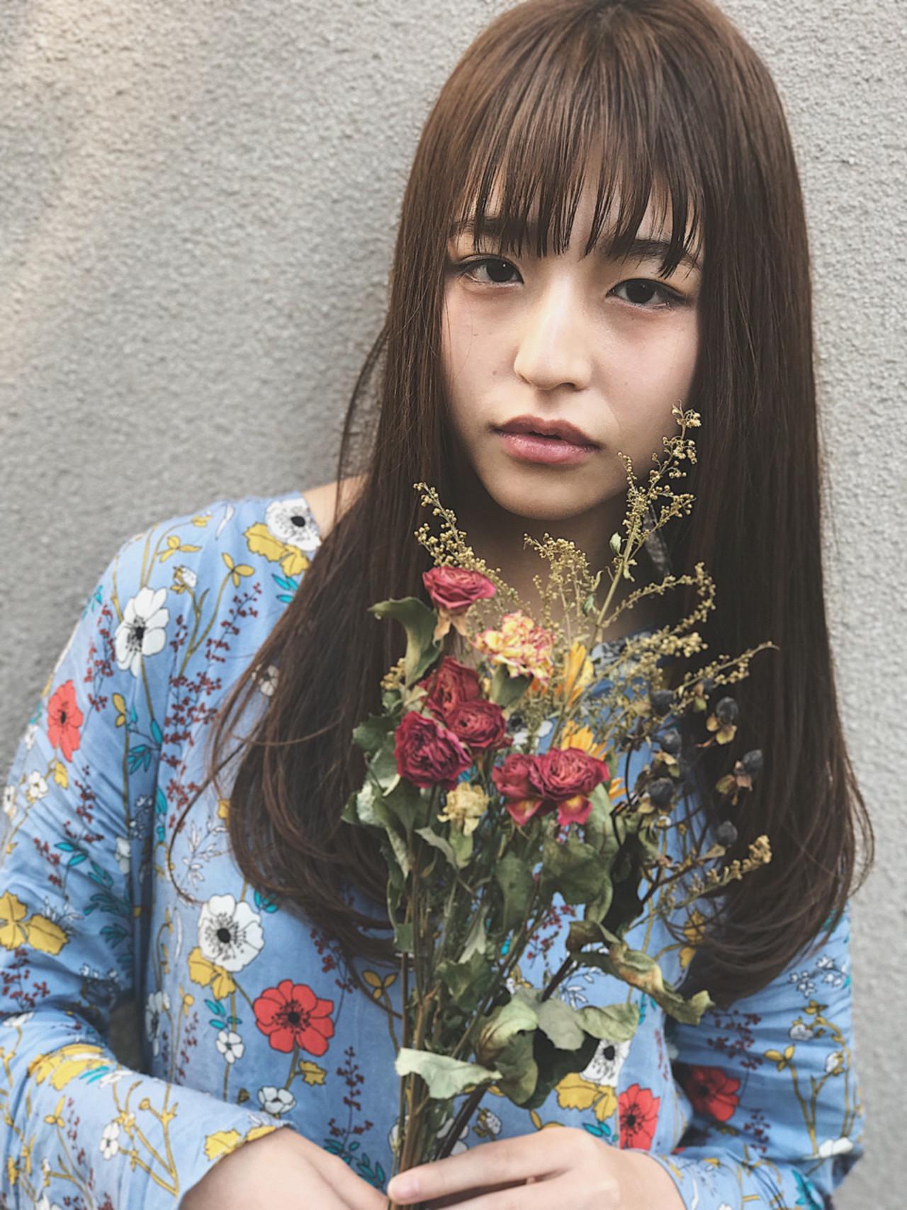 シースルーバングのこなれ今っぽロングヘア Natsuko Kodama