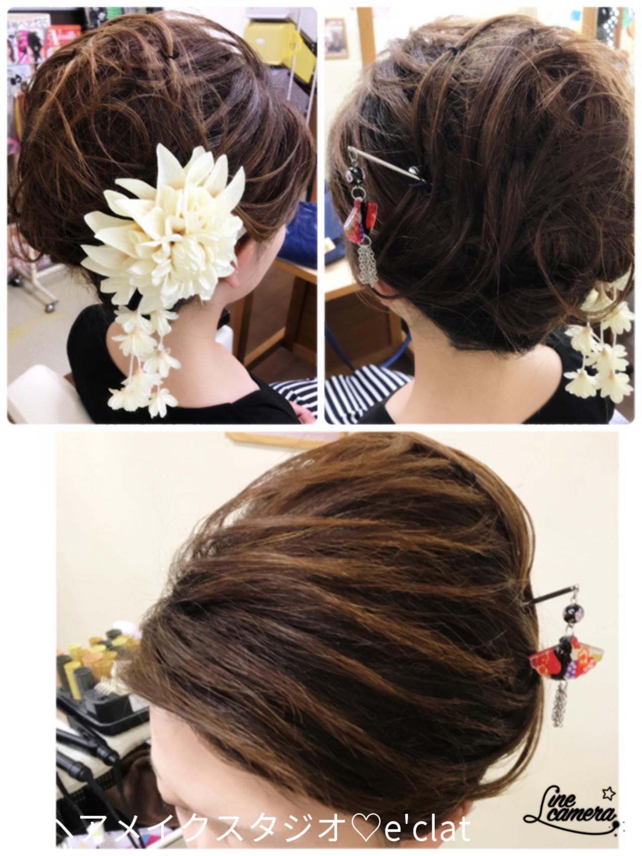 ロング エレガント 夜会巻 大人女子 ヘアスタイルや髪型の写真・画像