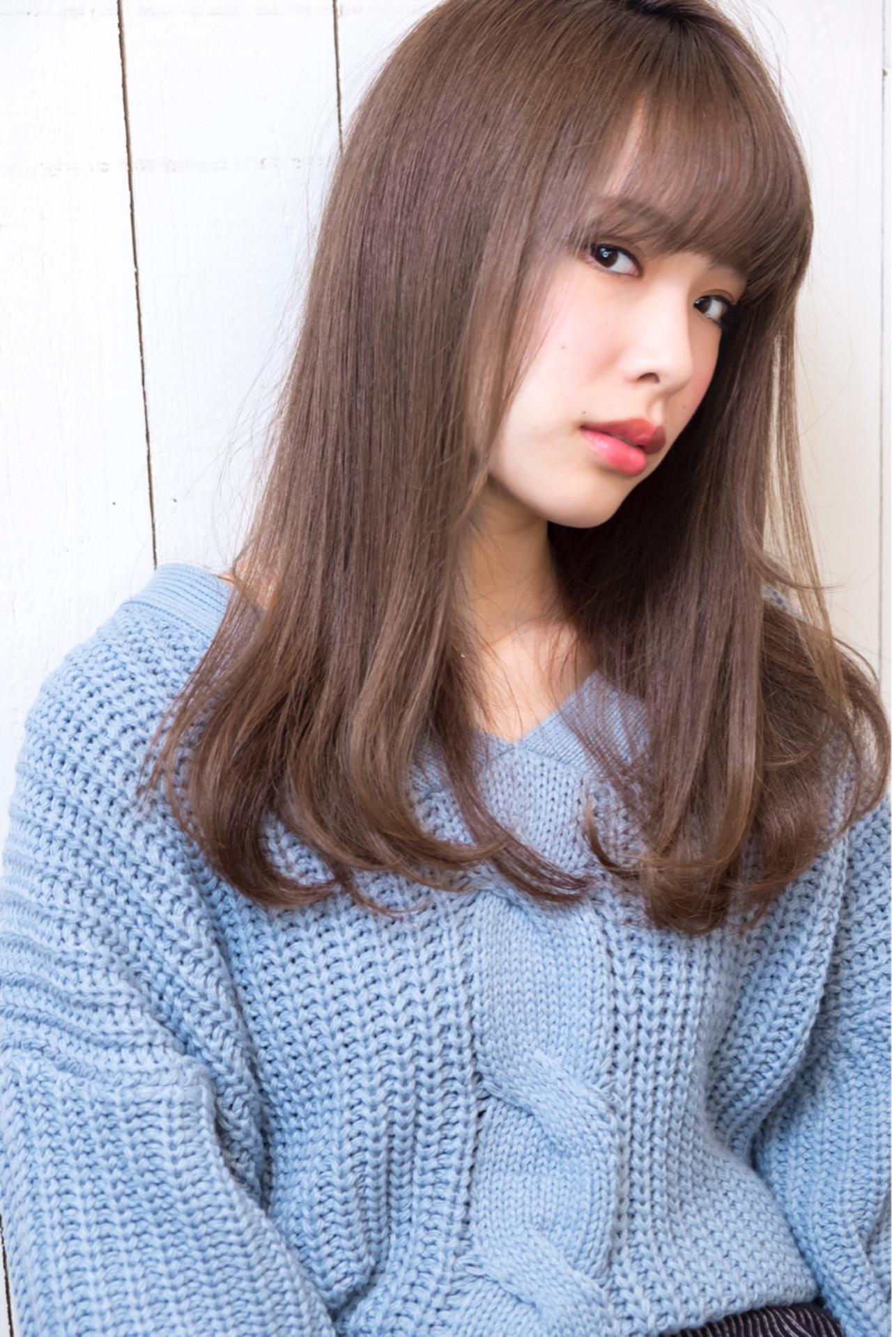 愛されバングの縮毛矯正ストレートヘア♡ HIRO