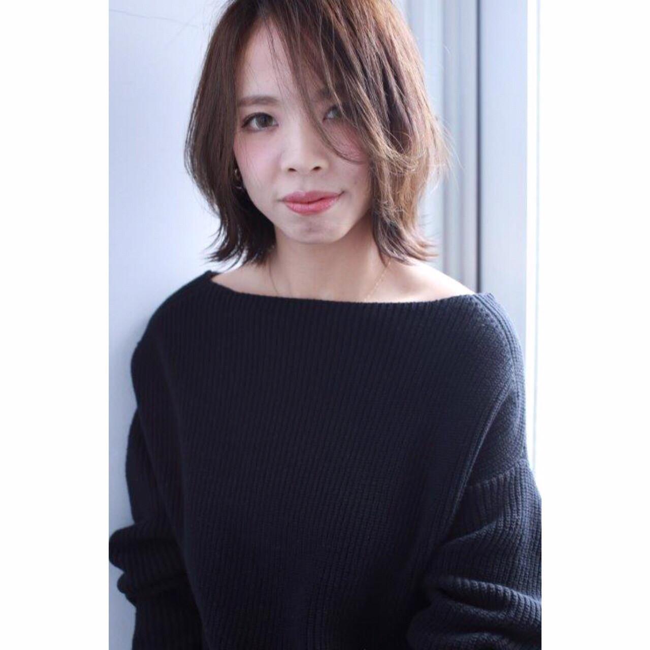 前髪を長めに残せば上品な女性に大変身! Yumi Hiramatsu | HAIR&MAKE JOJI