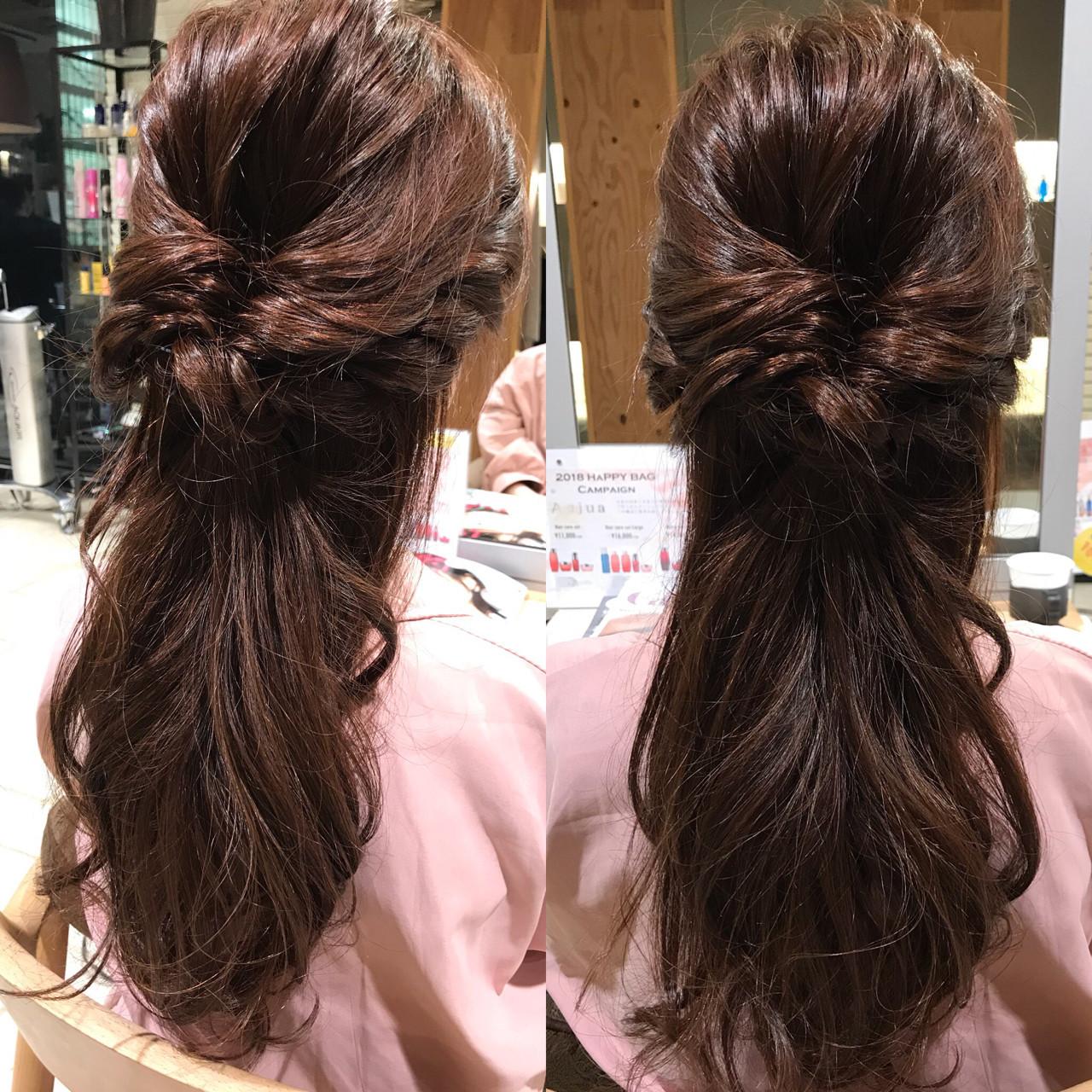 くるりんぱはハーフアップも魅力的♪ YASU | hair salon M.plus ヨツバコ店 (ヘアーサロン エムプラス)