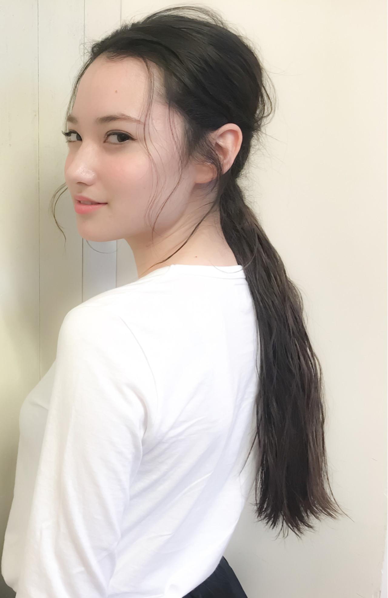 ロングポニーテールに合う前髪アレンジ 井手口 倫也