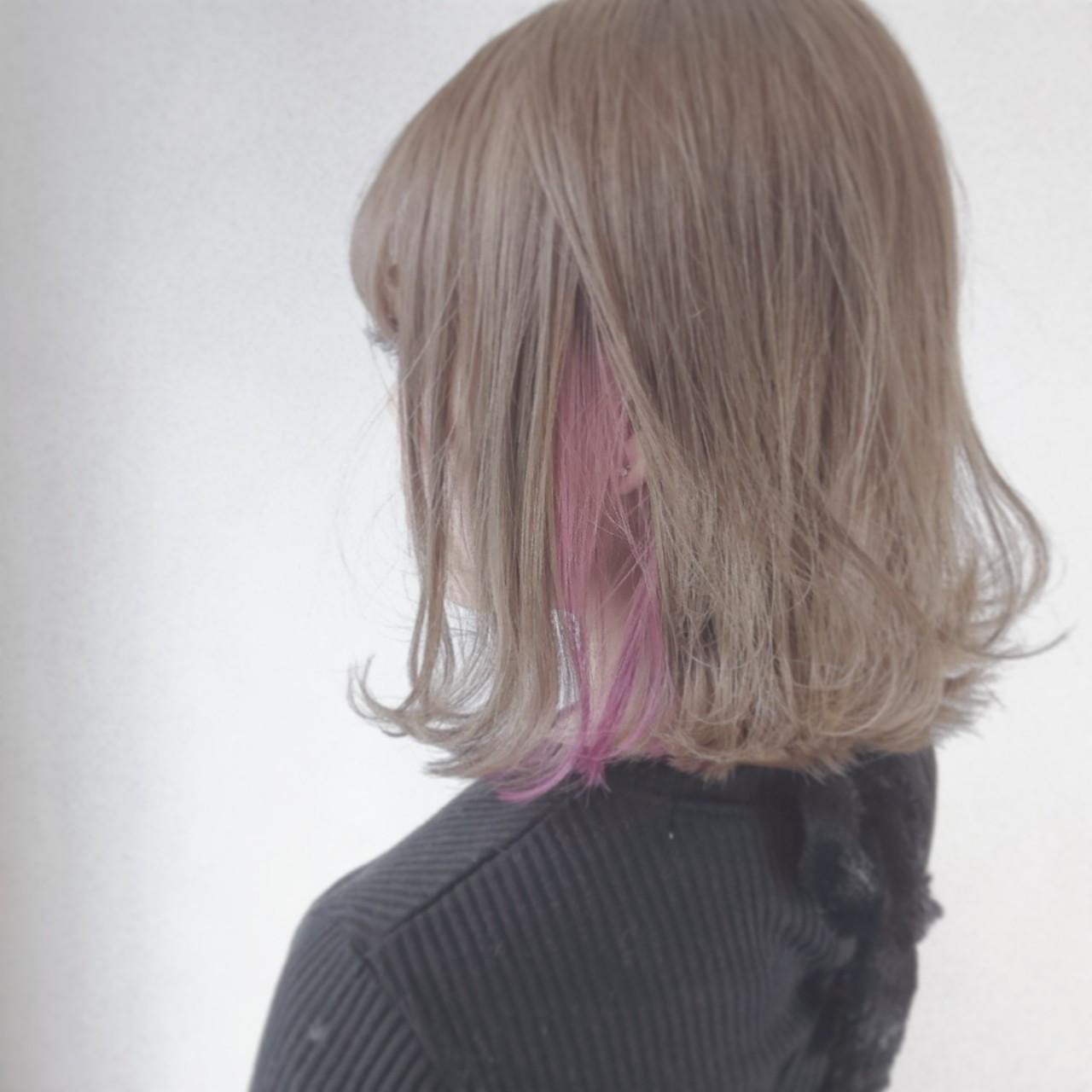 毛先の揺れでカラーの違いを楽しむインナーカラー 河原一平